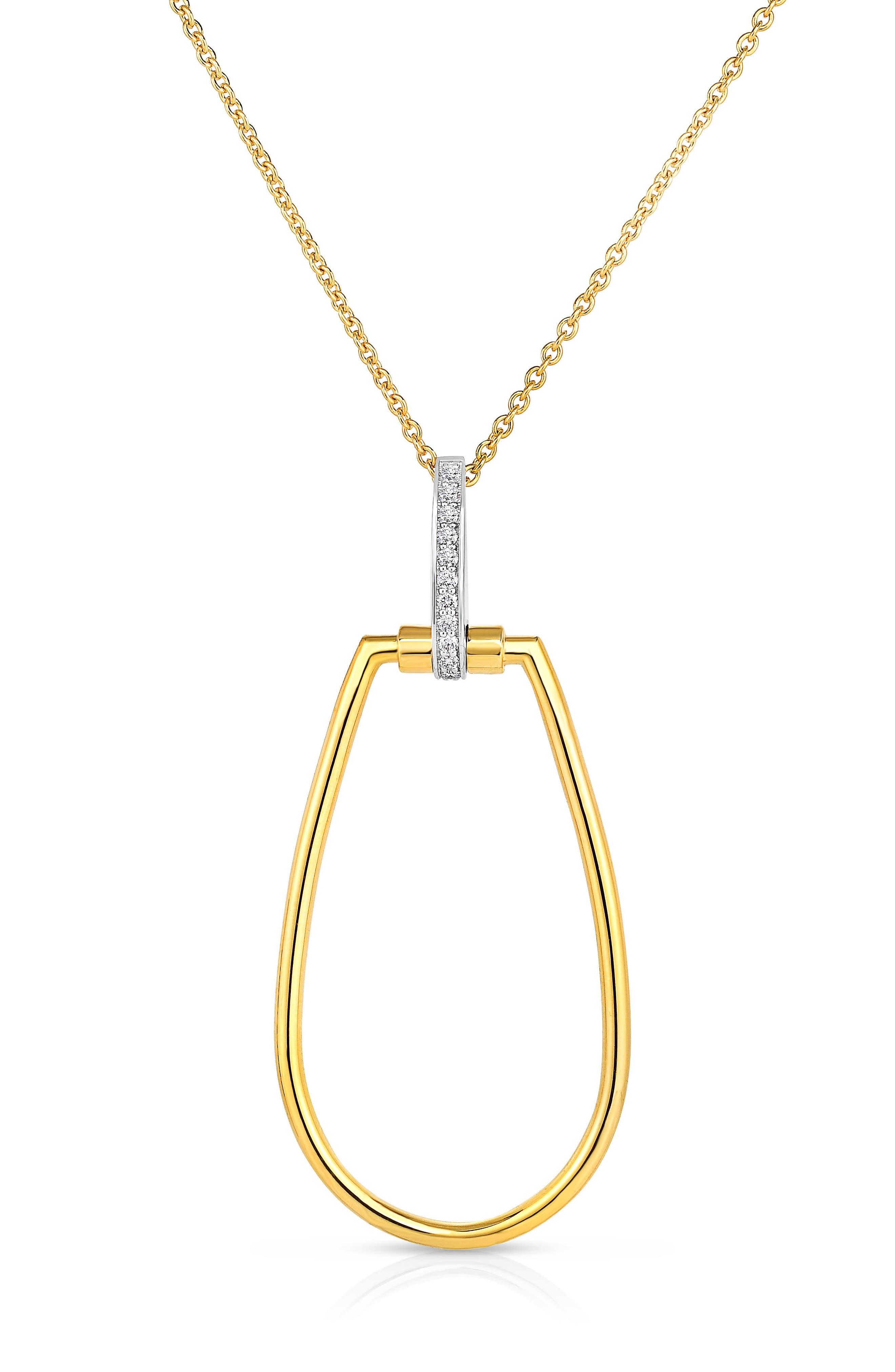 Roberto Coin Classica Parisienne Diamond Oval Necklace