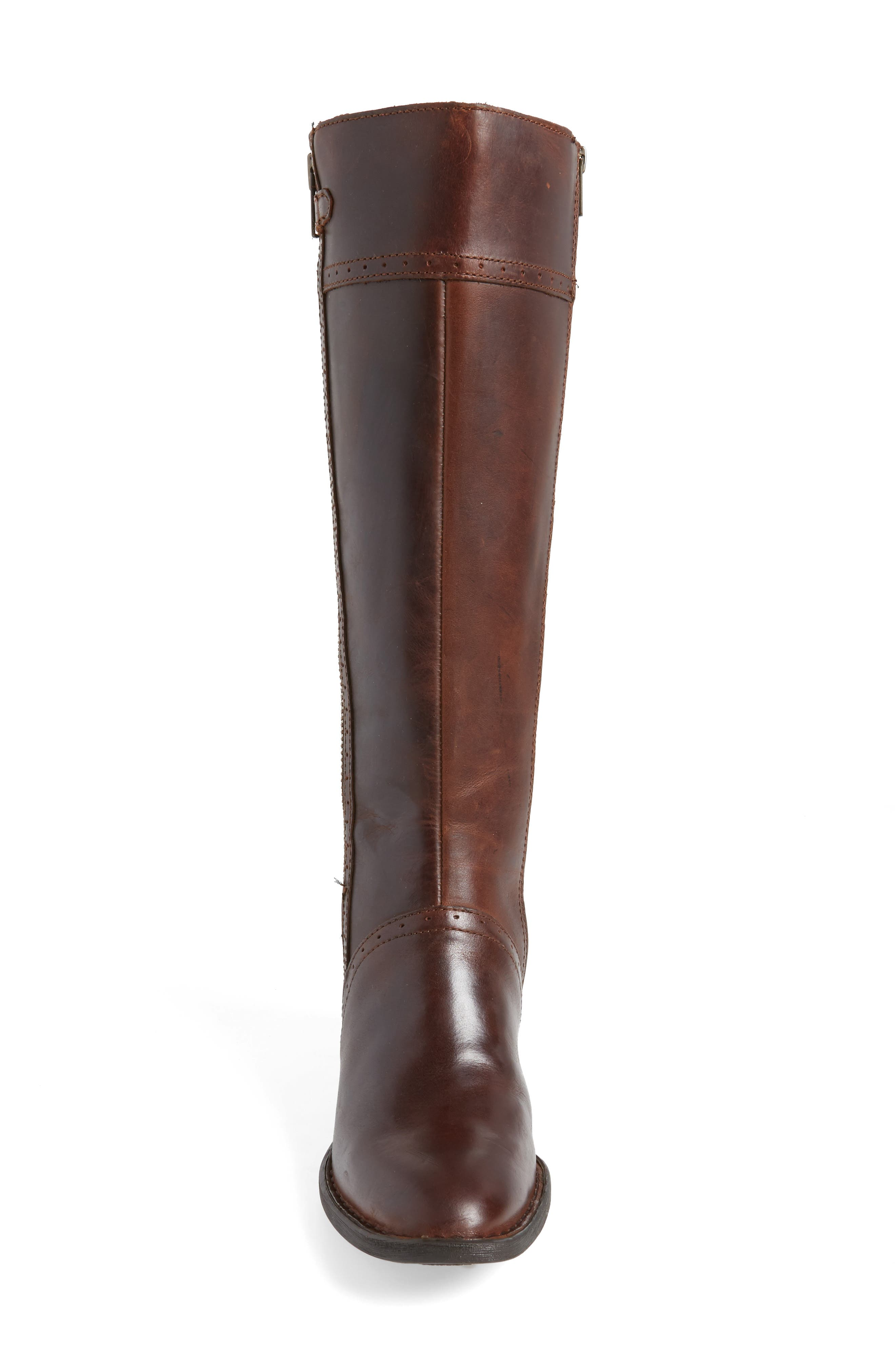Poly Riding Boot,                             Alternate thumbnail 4, color,                             Brown Full Grain Leather