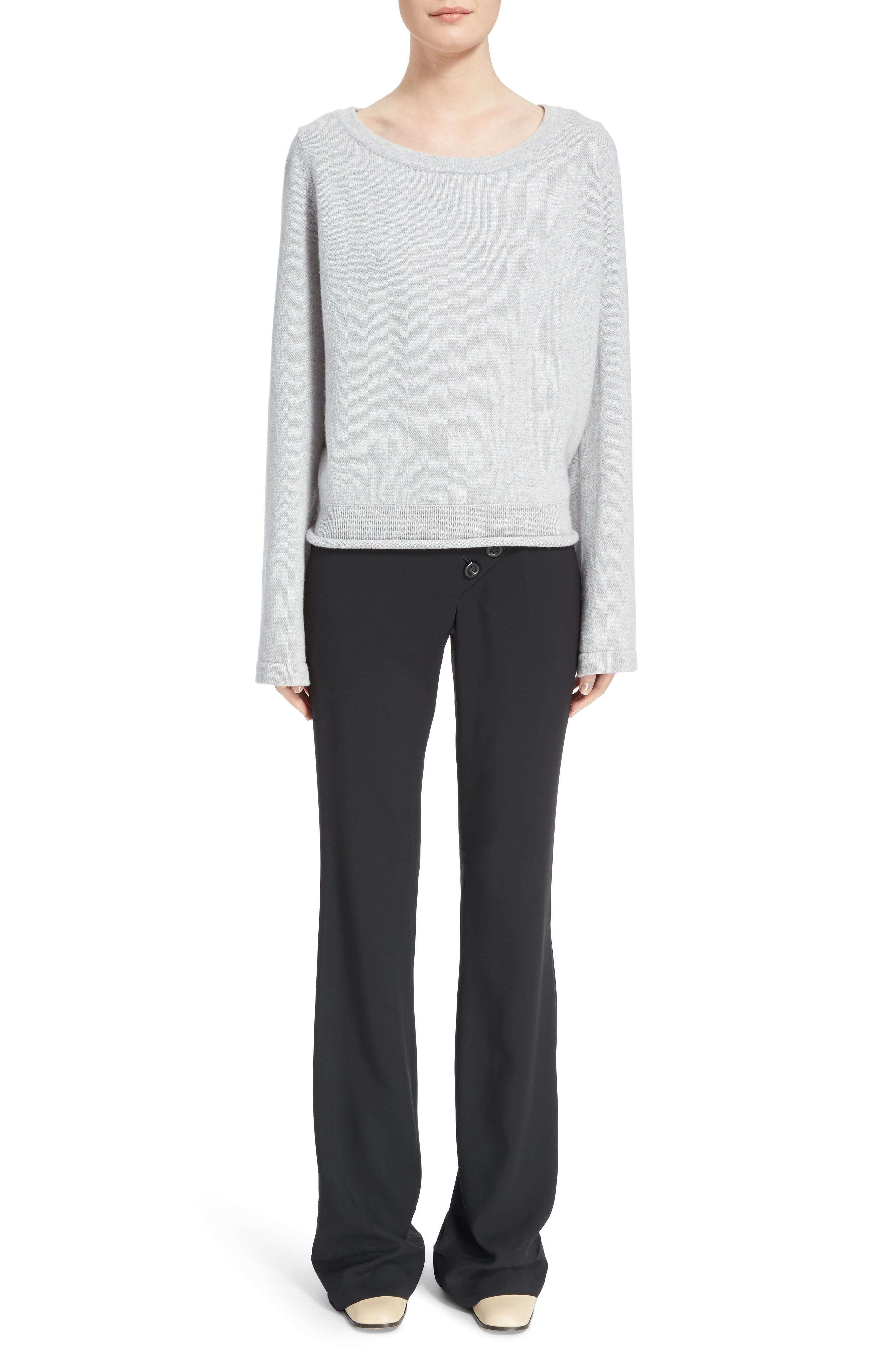 Iconic Cashmere Sweater,                             Alternate thumbnail 6, color,                             Cozy Grey