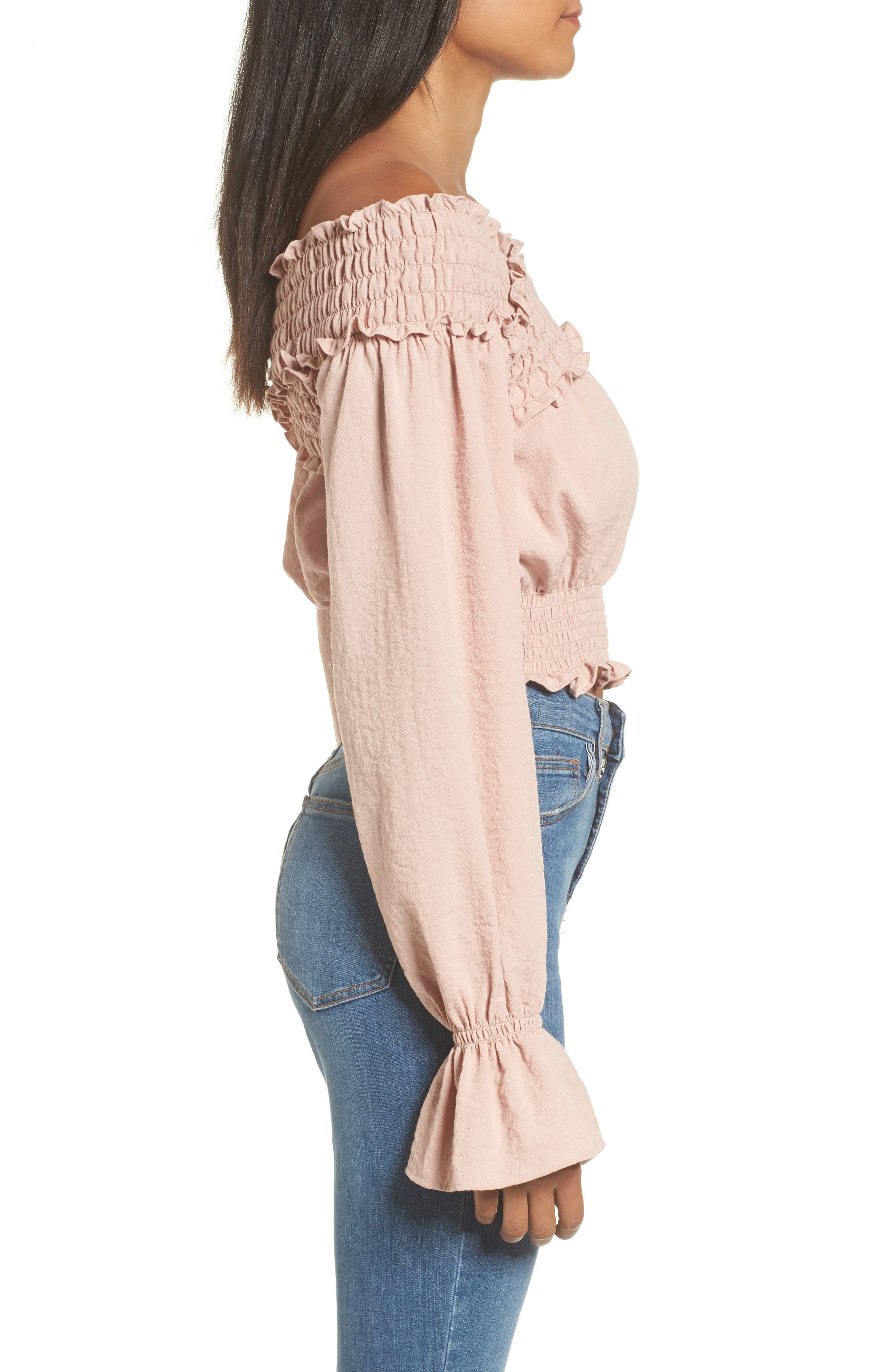 Alternate Image 3  - Tularosa Delany Off the Shoulder Crop Top