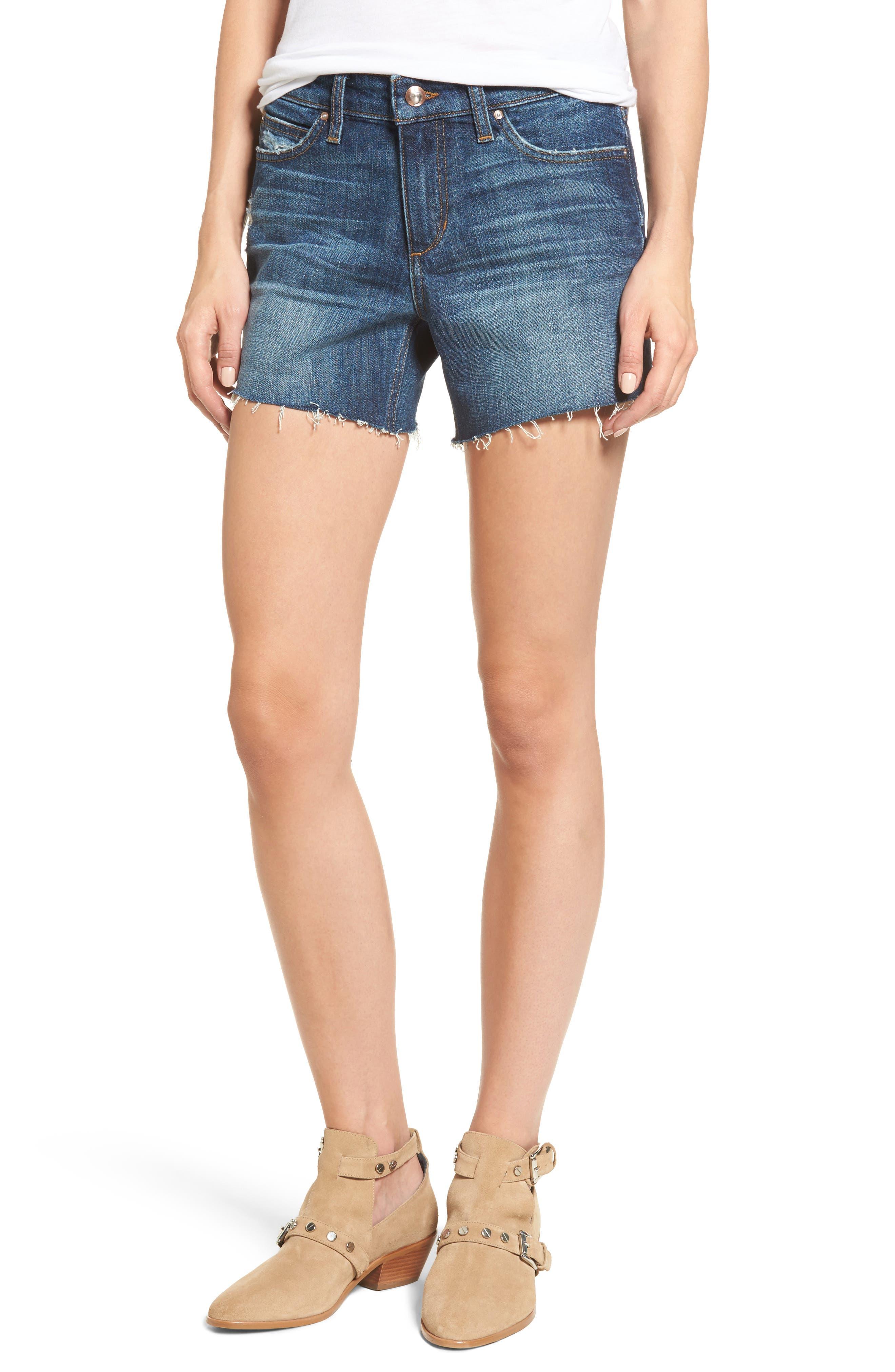 Ozzie Cutoff Denim Shorts,                         Main,                         color, Maura