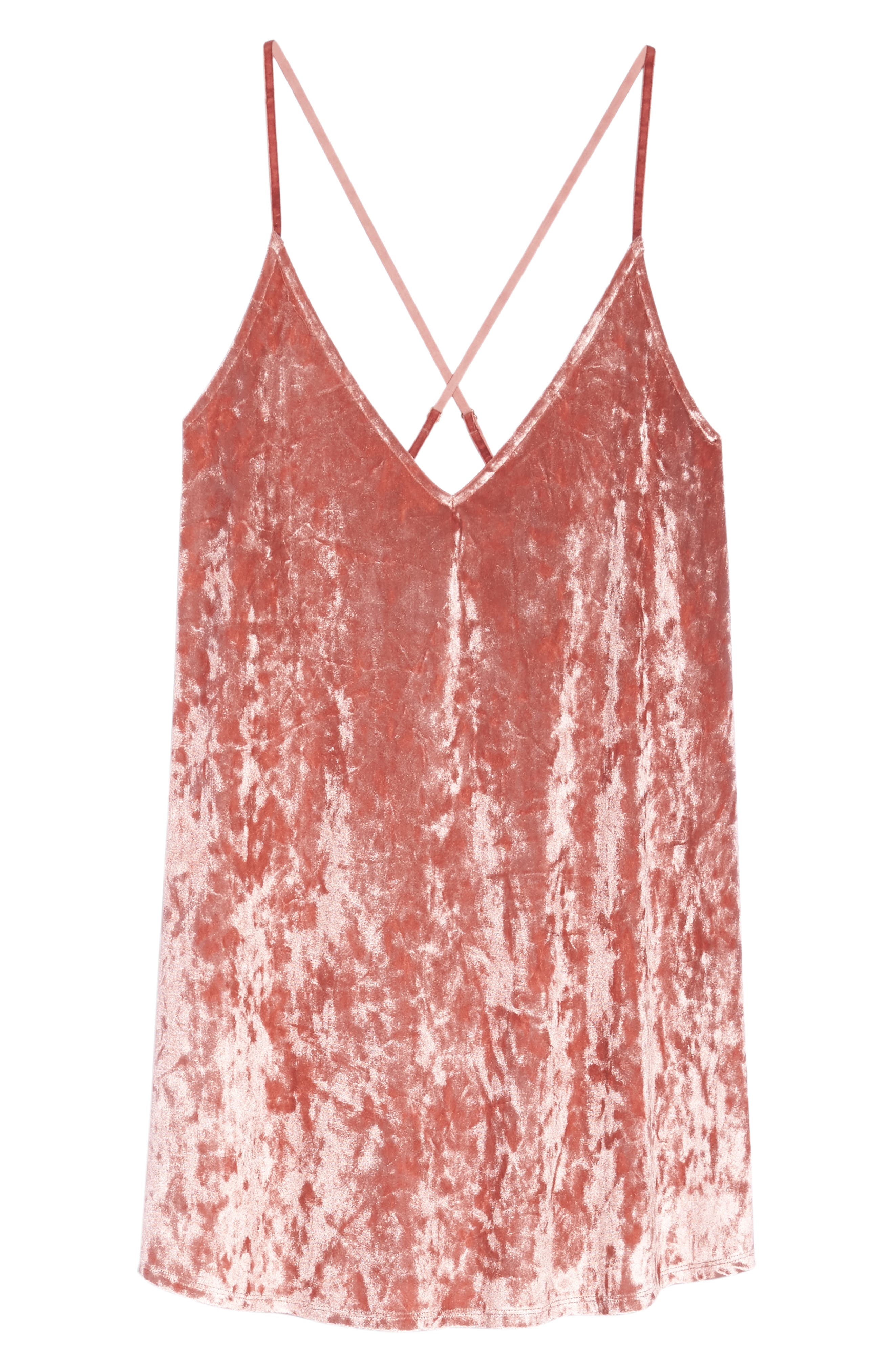 Alternate Image 4  - Chelsea28 Crushed Velvet Chemise