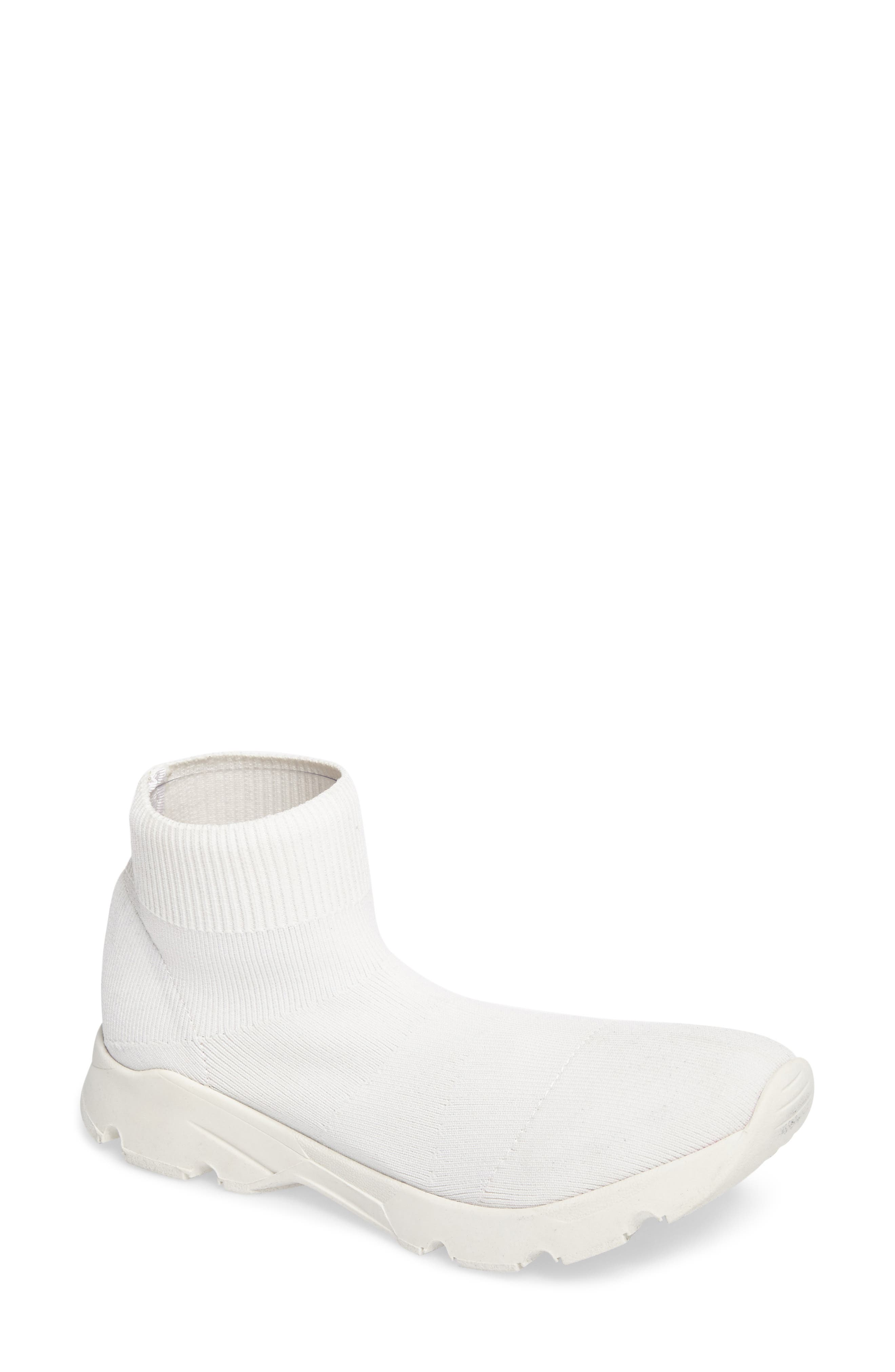 Winston Knit High Top Sneaker,                             Main thumbnail 1, color,                             White Vortex