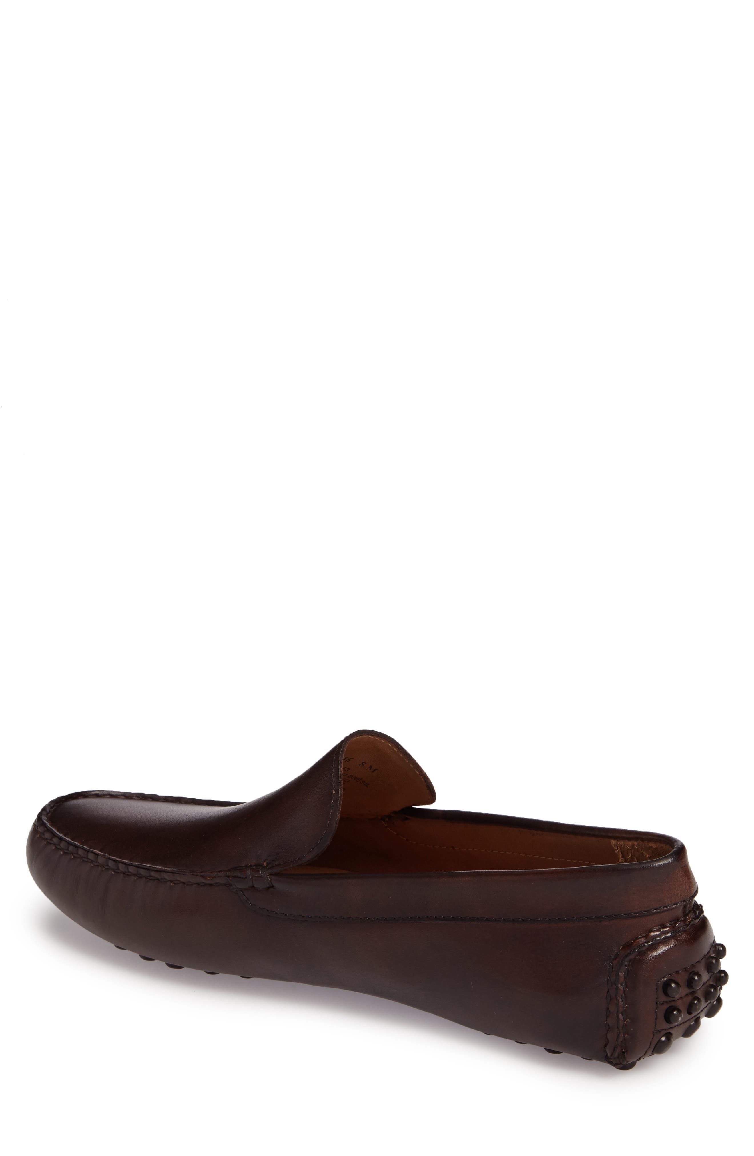 Cane Driving Shoe,                             Alternate thumbnail 2, color,                             Brown Leather