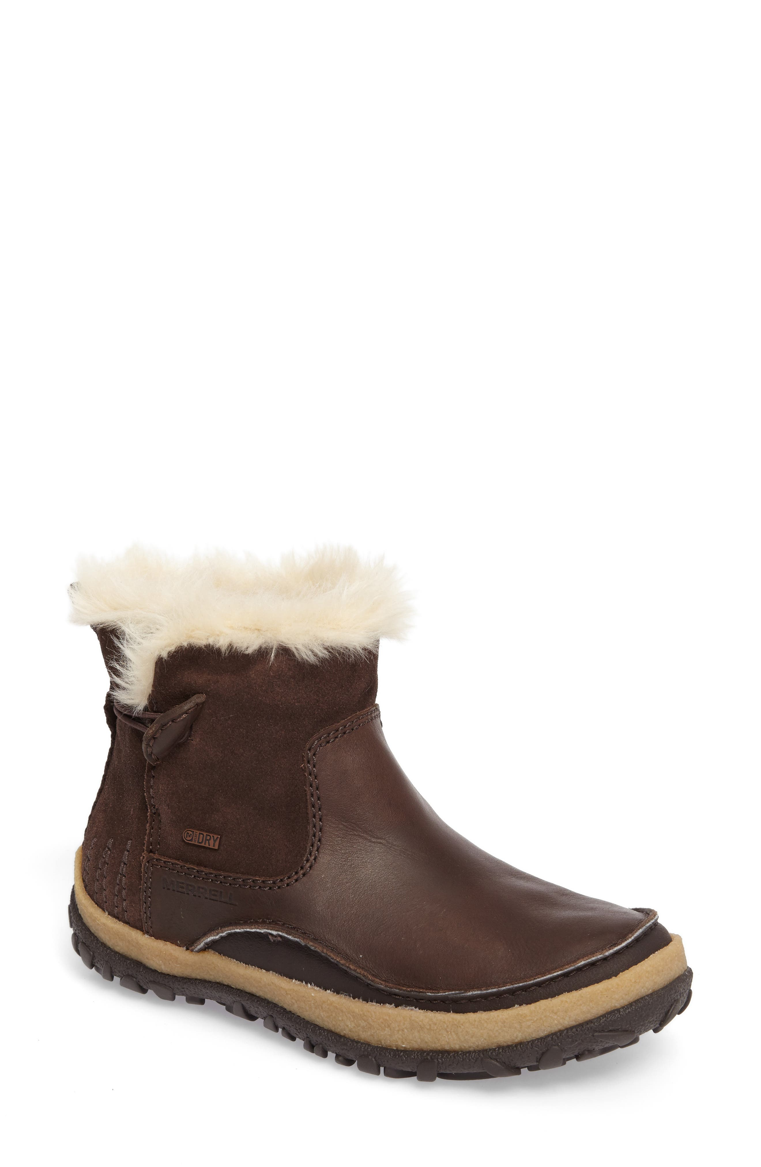 Tremblant Pull-On Polar Waterproof Bootie,                             Main thumbnail 1, color,                             Espresso Leather