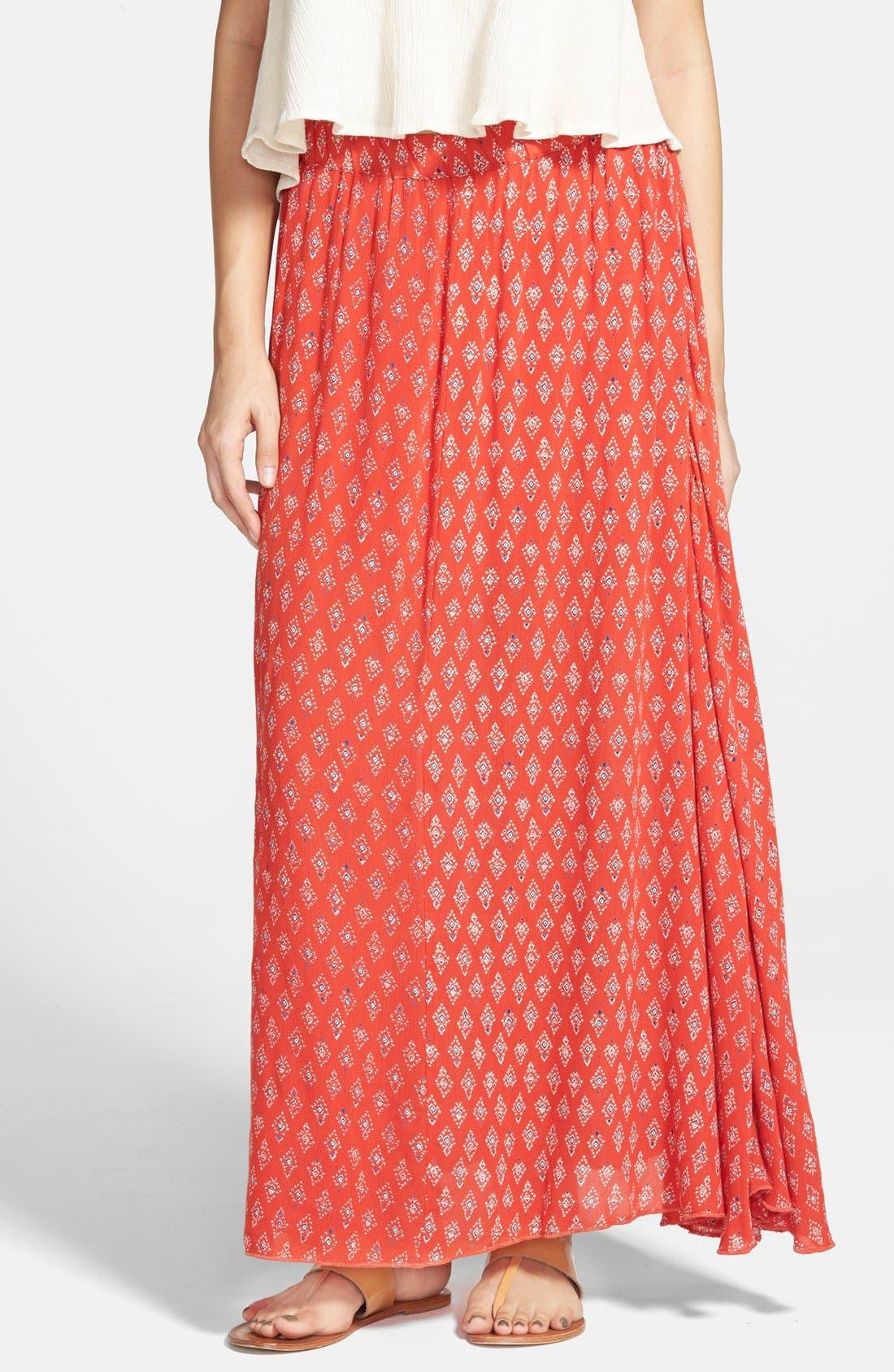 Alternate Image 1 Selected - Billabong 'Don't Think of It' Print Maxi Skirt