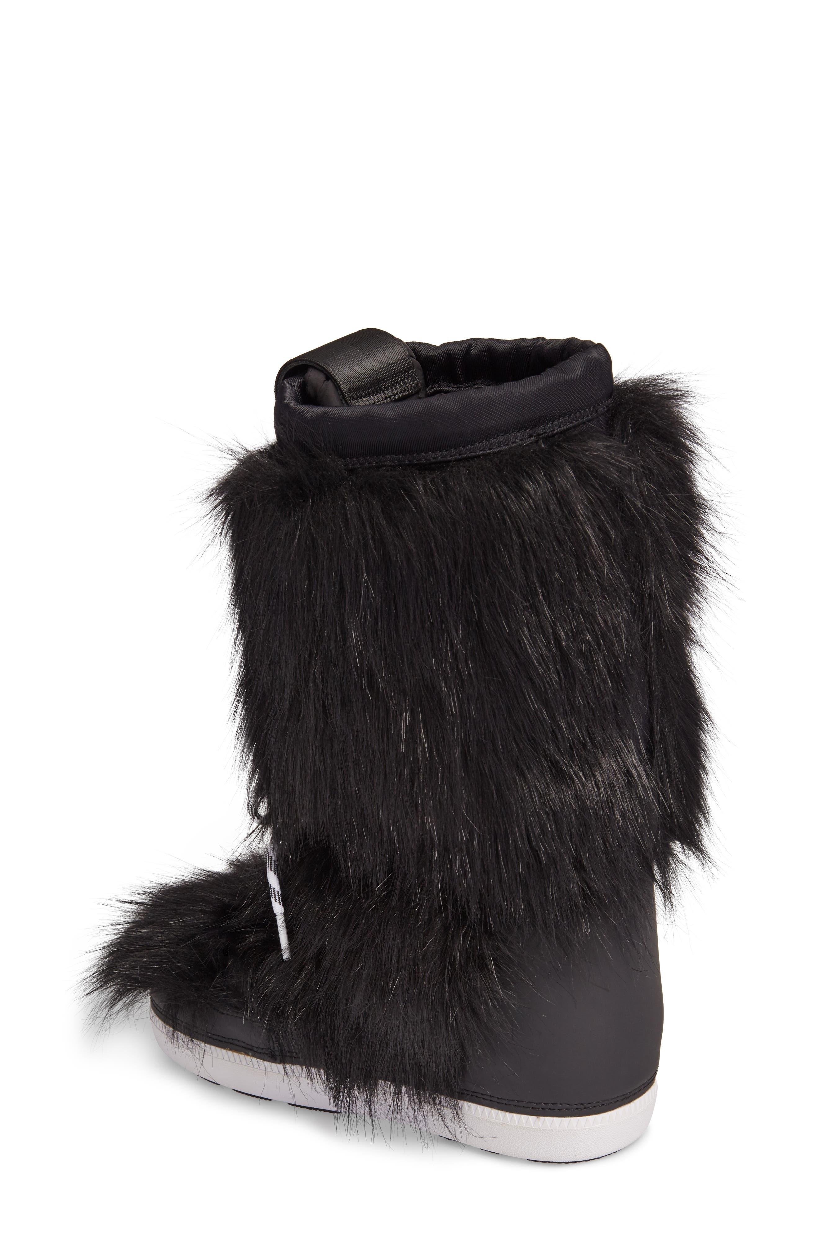 Snow Original Faux Fur Boot,                             Alternate thumbnail 2, color,                             Black