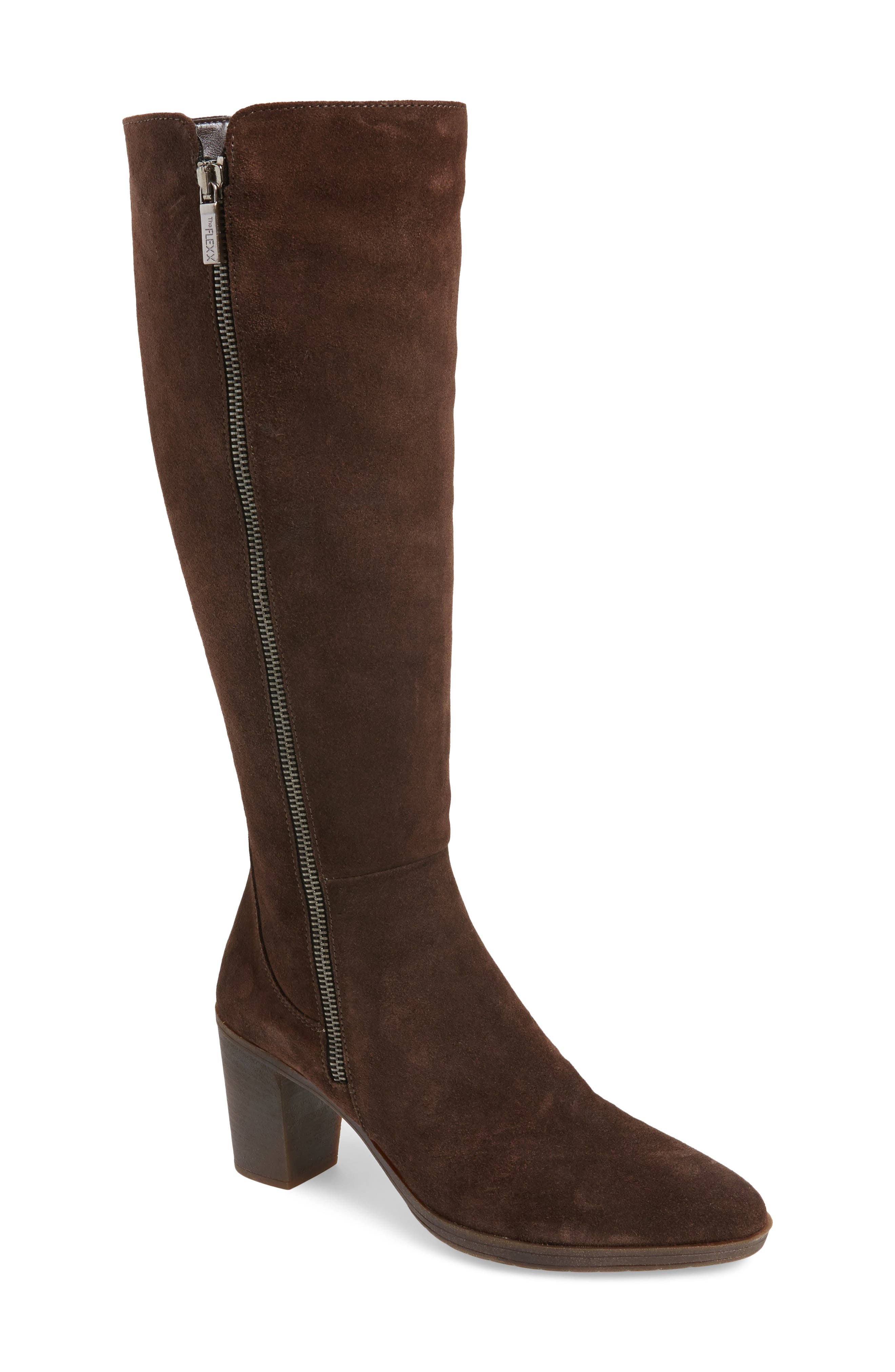 Pony Up Boot,                         Main,                         color, Ebony Suede
