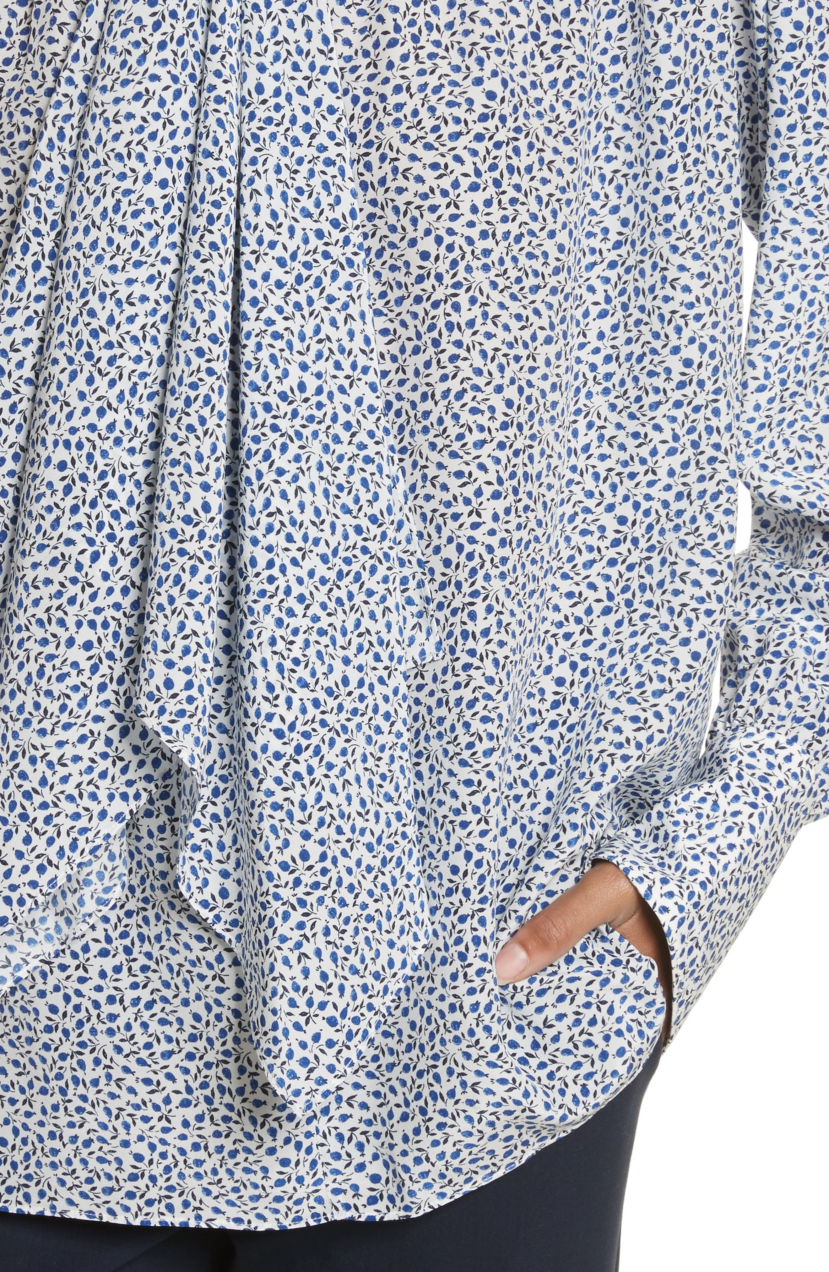 Alternate Image 4  - JOSEPH Cora Tie Neck Liberty Print Silk Blouse