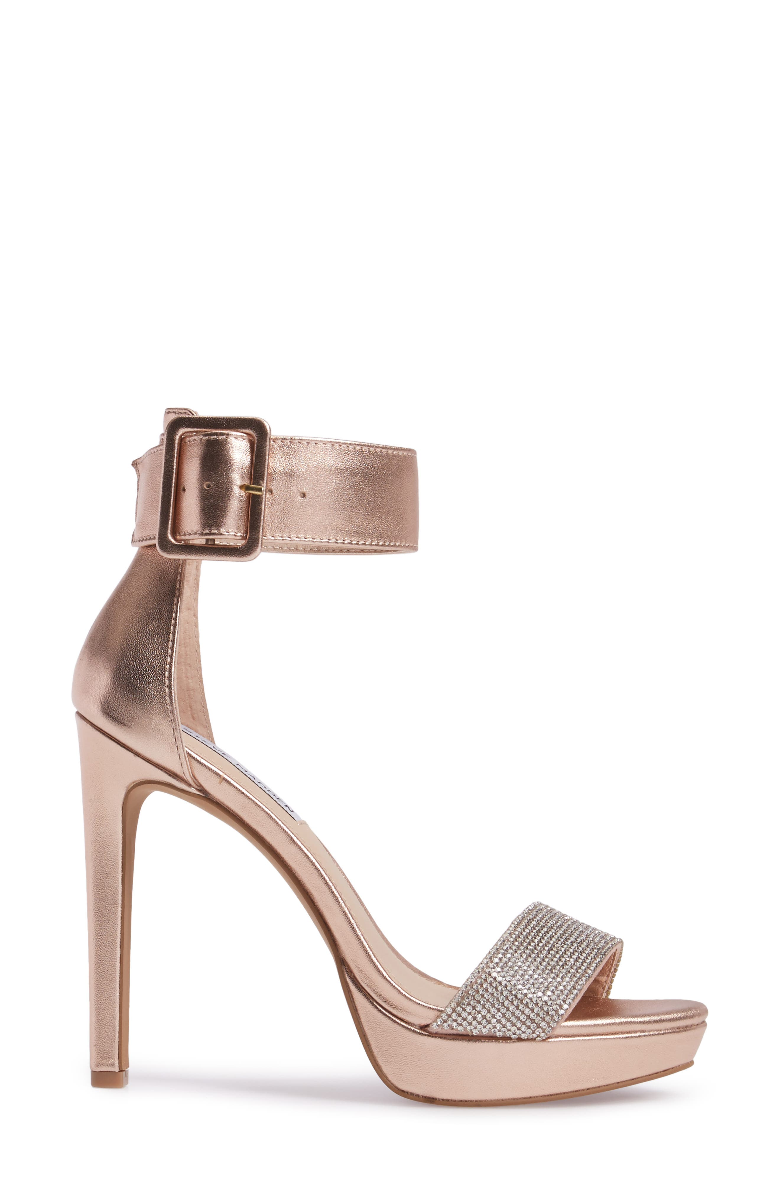 Circuit Sandal,                             Alternate thumbnail 3, color,                             Rose Gold Leather