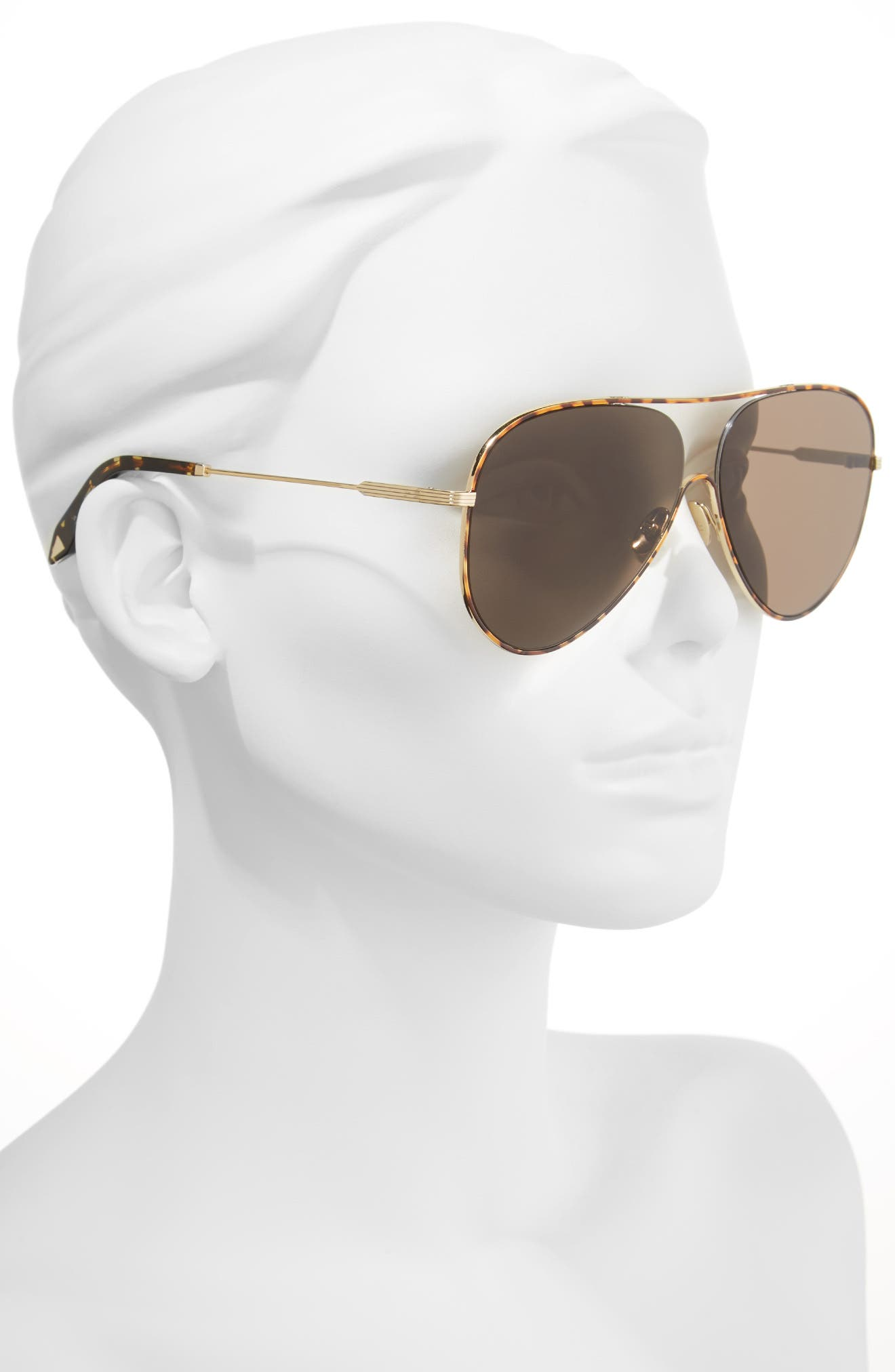 Alternate Image 2  - Victoria Beckham Loop 62mm Oversize Aviator Sunglasses