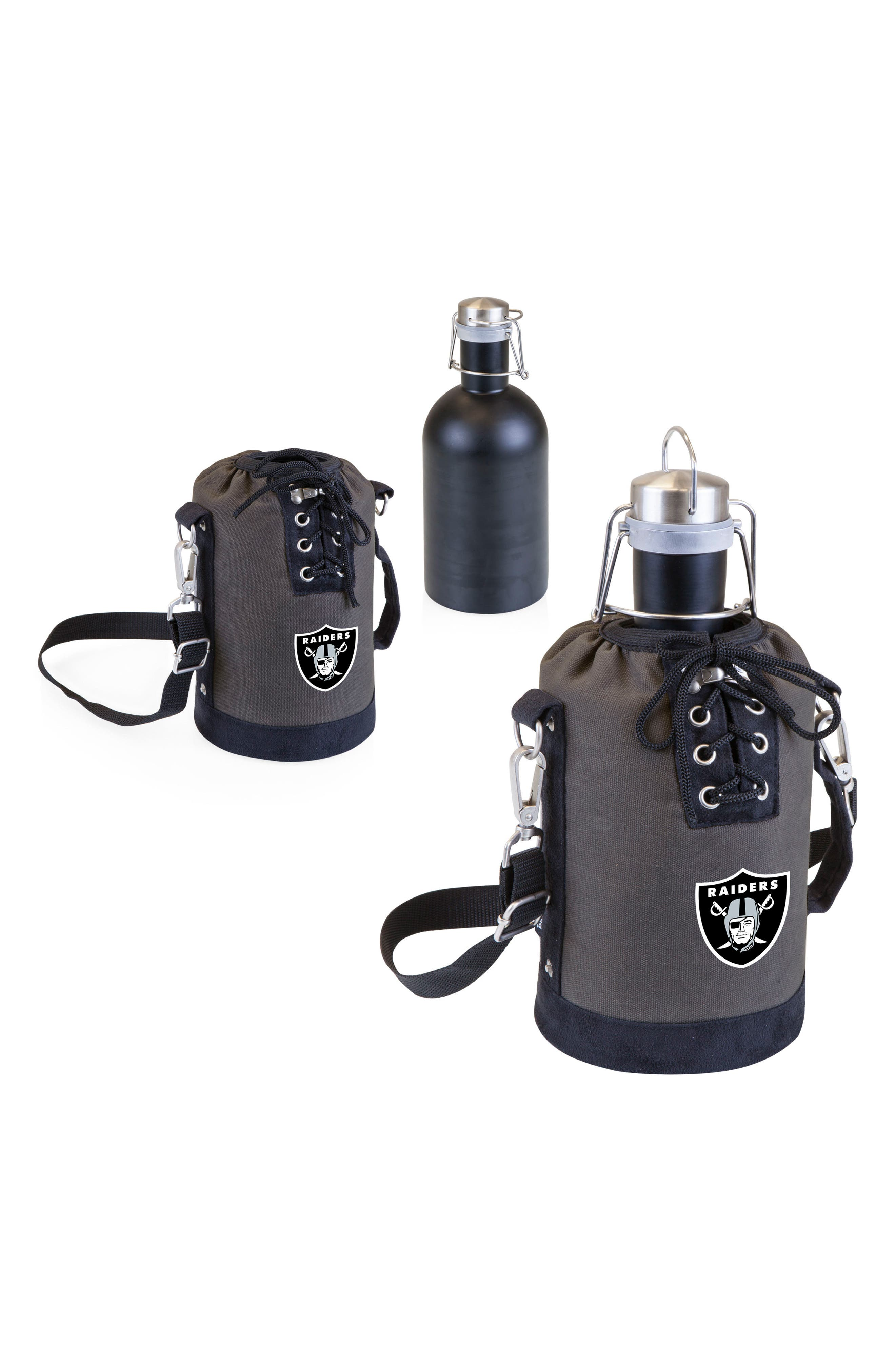 NFL Team Logo Tote & Stainless Steel Growler,                             Alternate thumbnail 2, color,                             Oakland Raiders