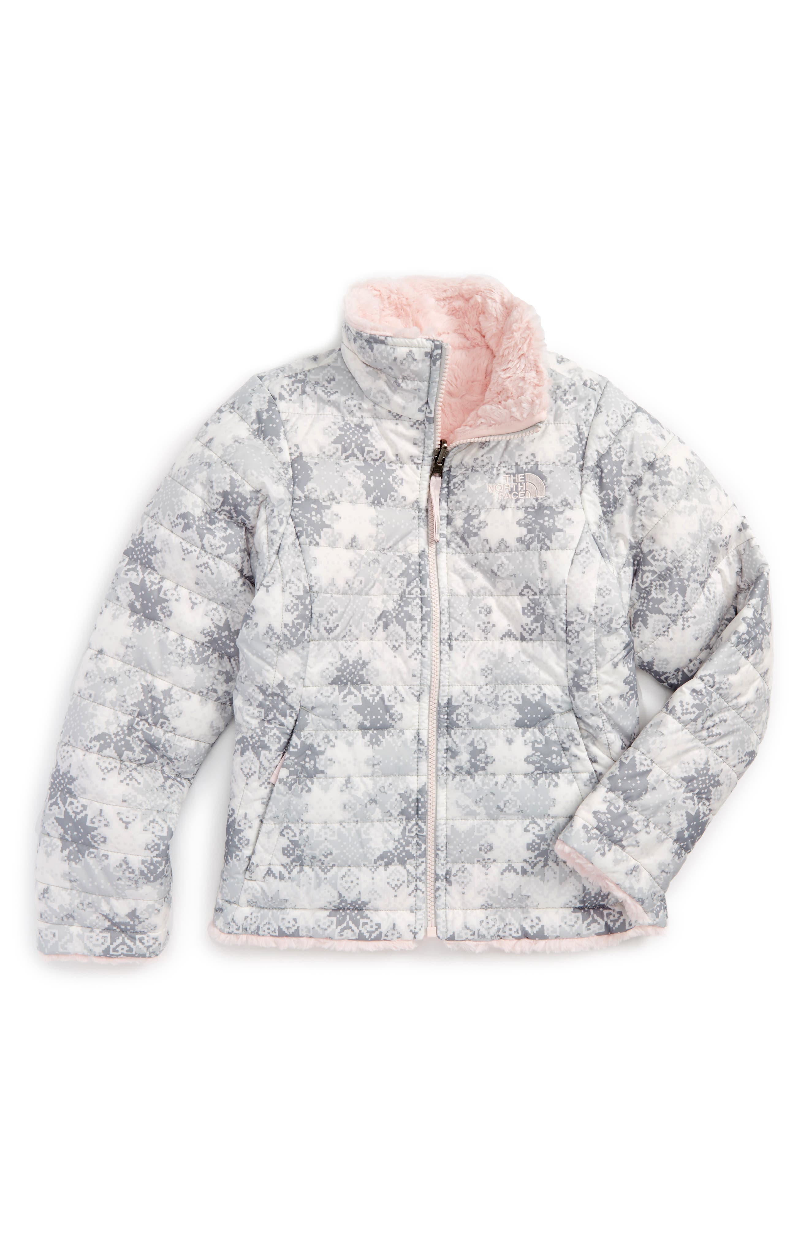 The North Face Mossbud Swirl Reversible Water Repellent Jacket (Little Girls & Big Girls)