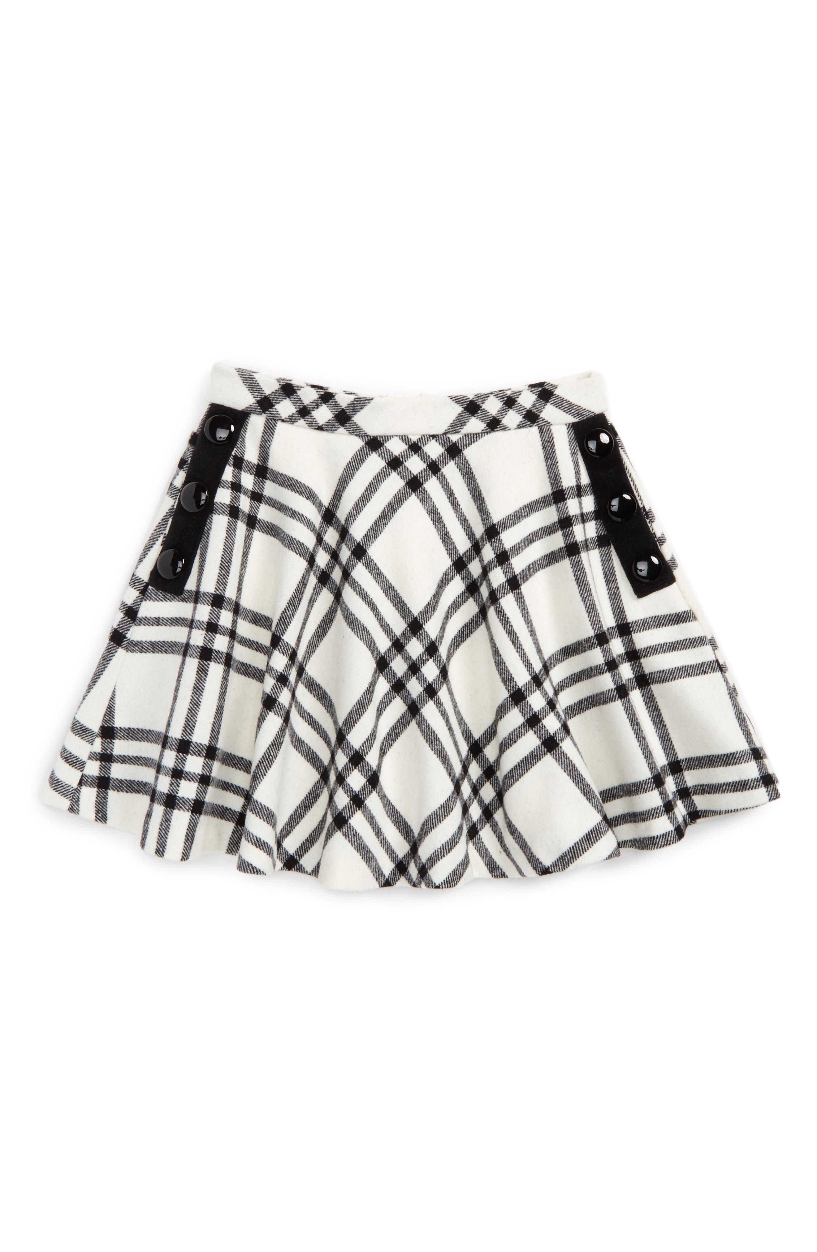 kate spade new york plaid circle skirt (Big Girls)