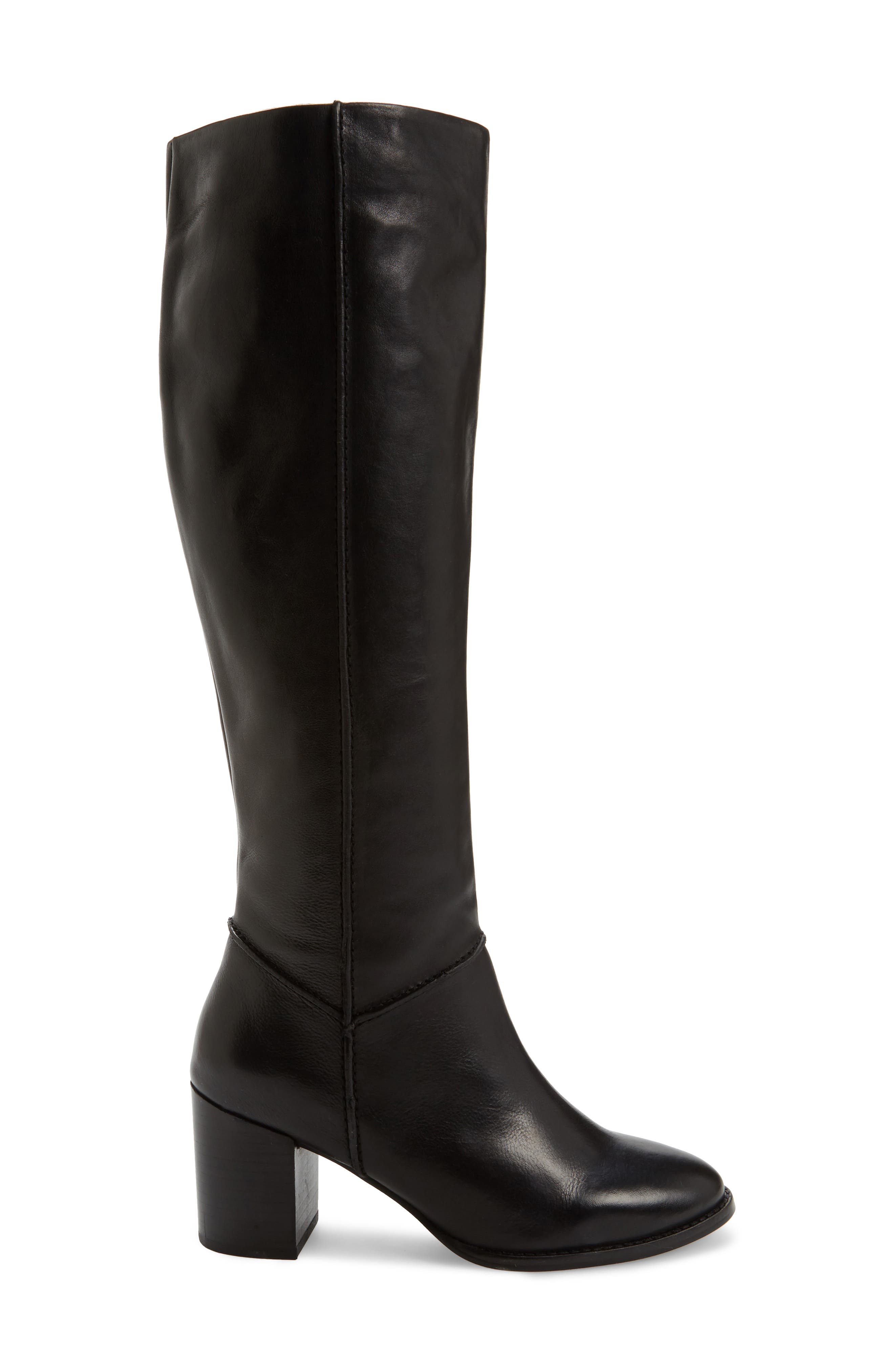 Final Bow Boot,                             Alternate thumbnail 3, color,                             Black Leather