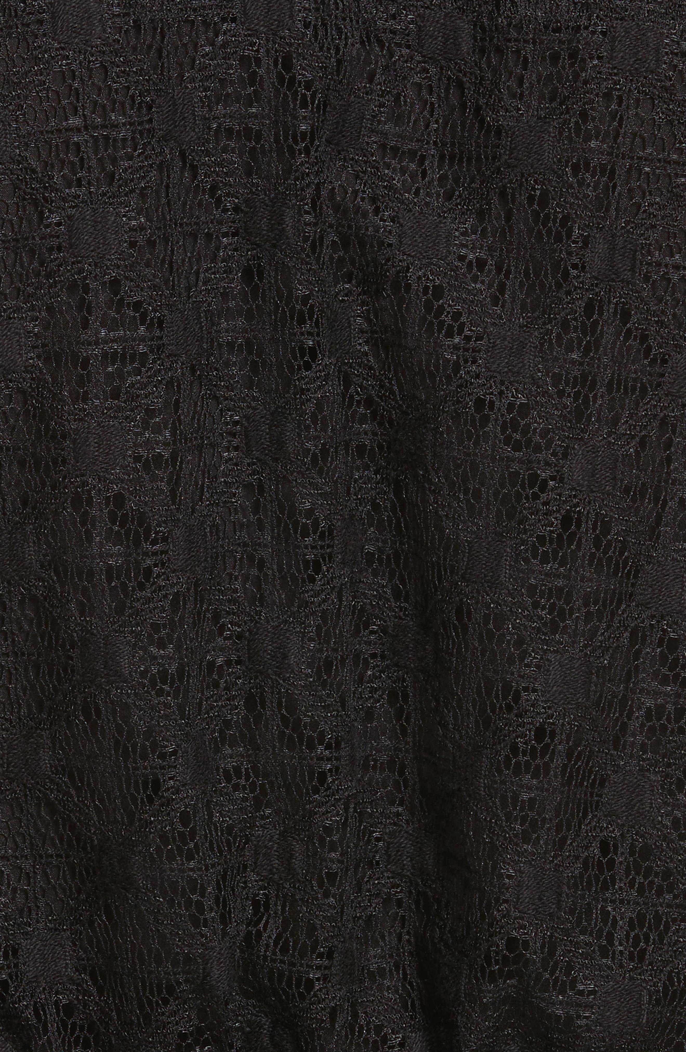 Claire Lace Top,                             Alternate thumbnail 5, color,                             Black