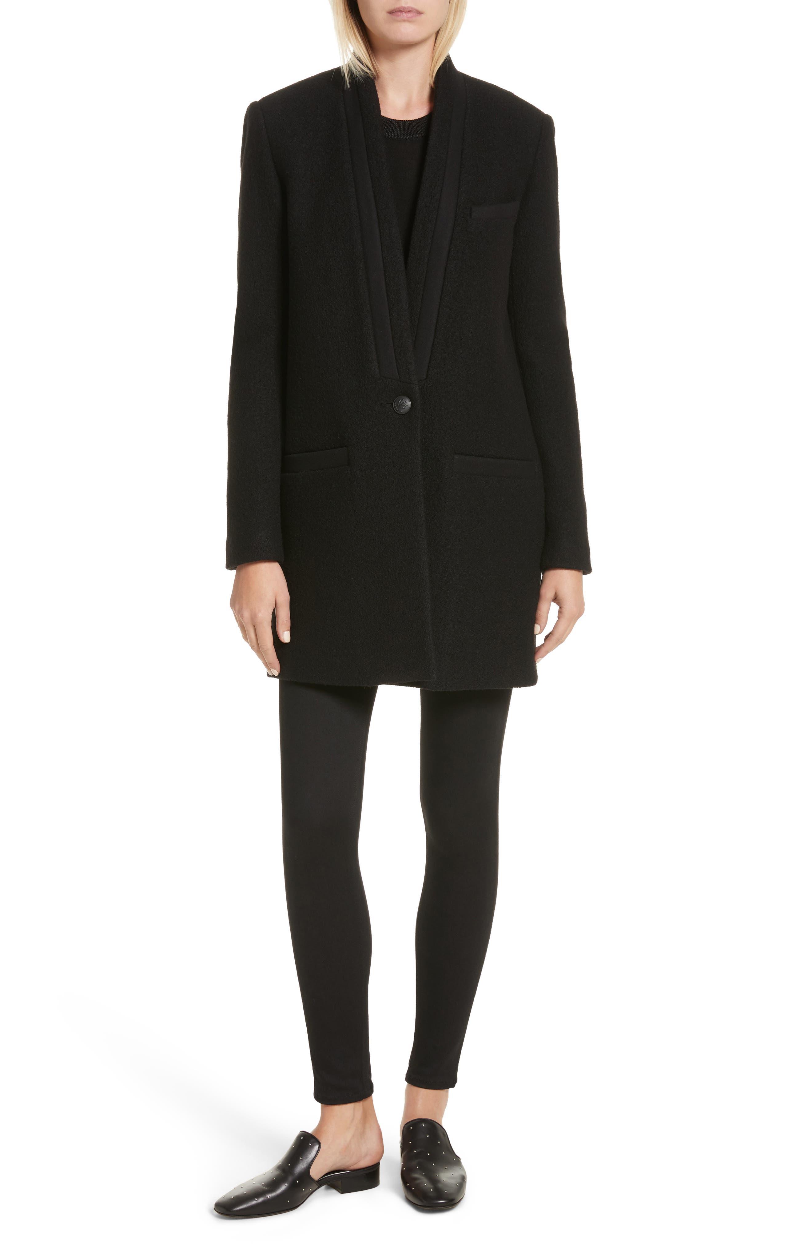 Sadie Merino Wool Blend & Silk Sweater,                             Alternate thumbnail 2, color,                             Black