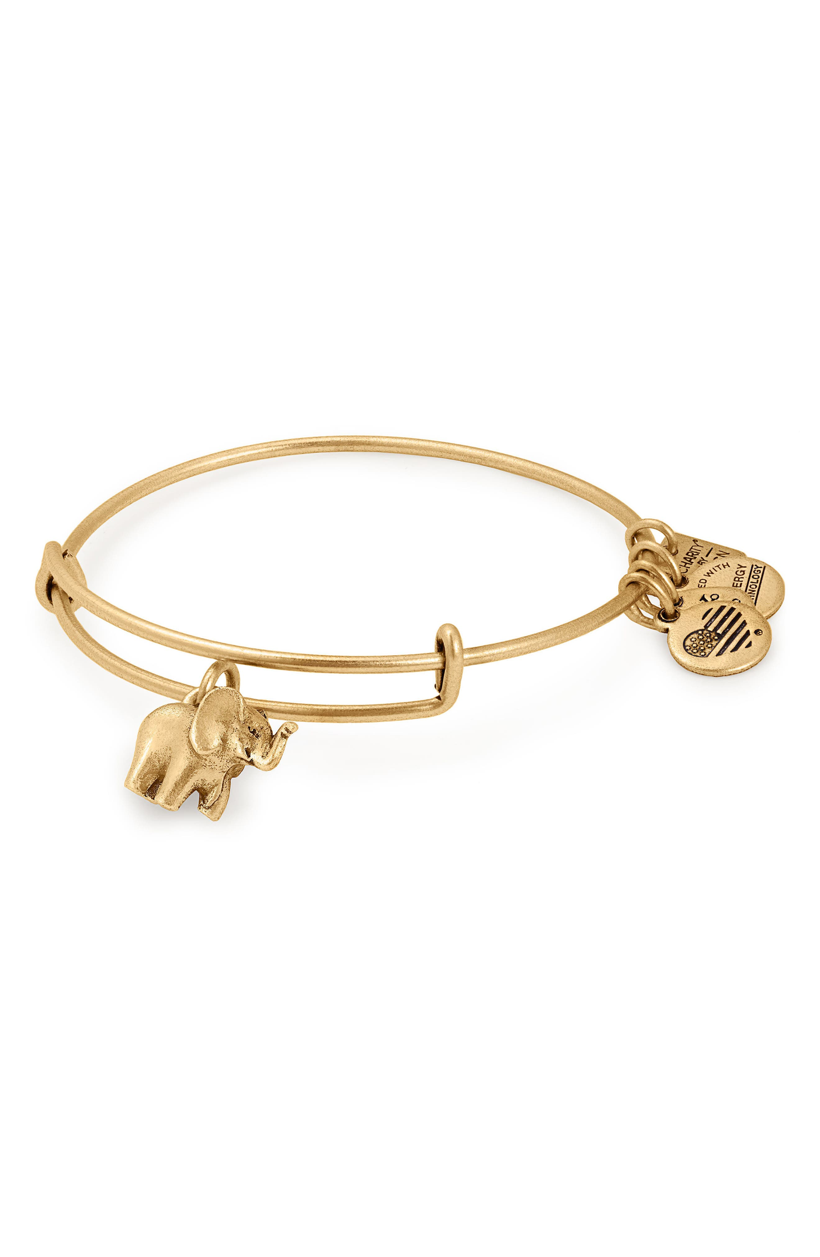 Alternate Image 2  - Alex and Ani Charity by Design Elephant II Adjustable Bangle