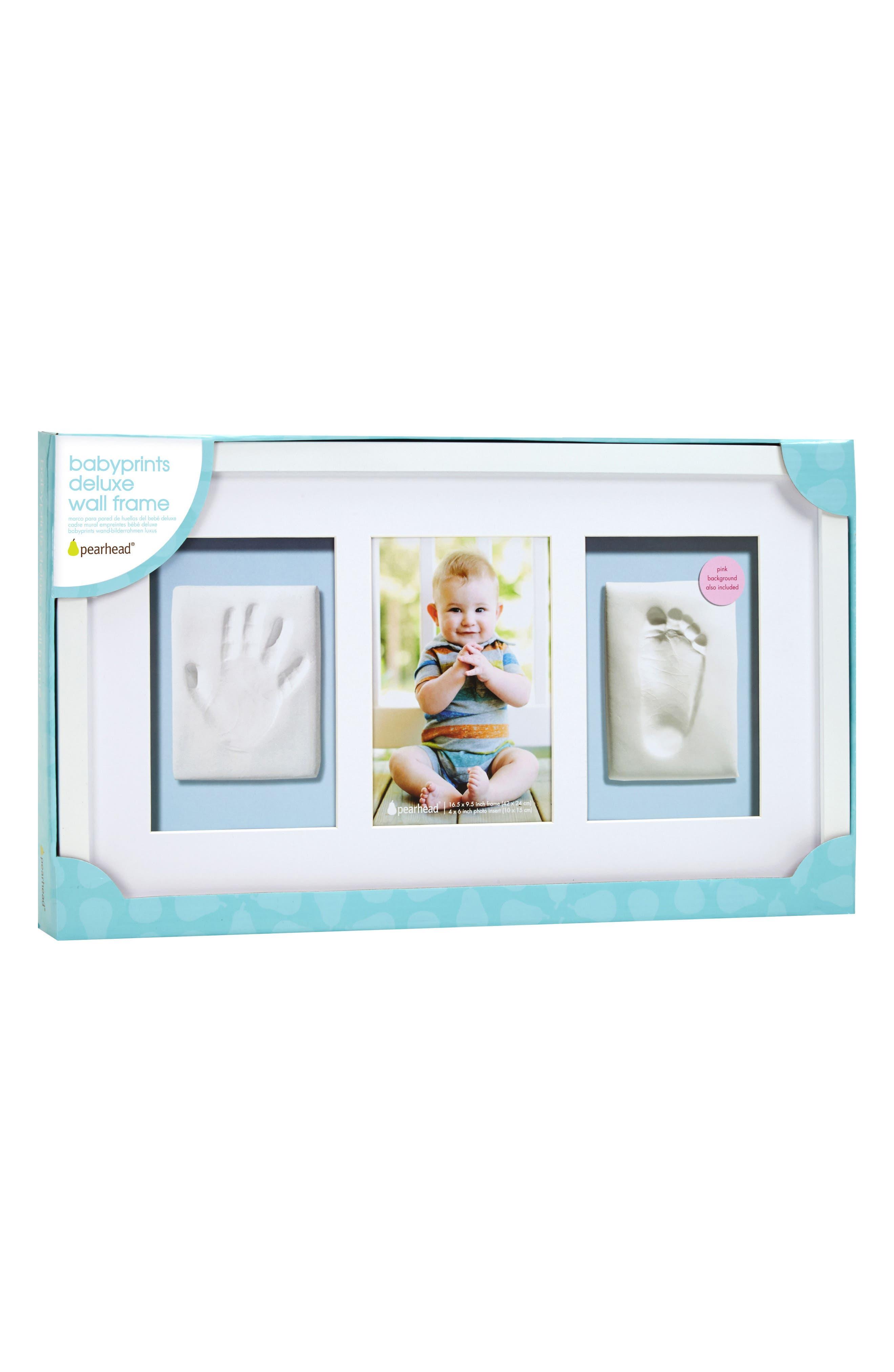 Babyprints Deluxe Wall Frame Kit,                             Main thumbnail 1, color,                             White