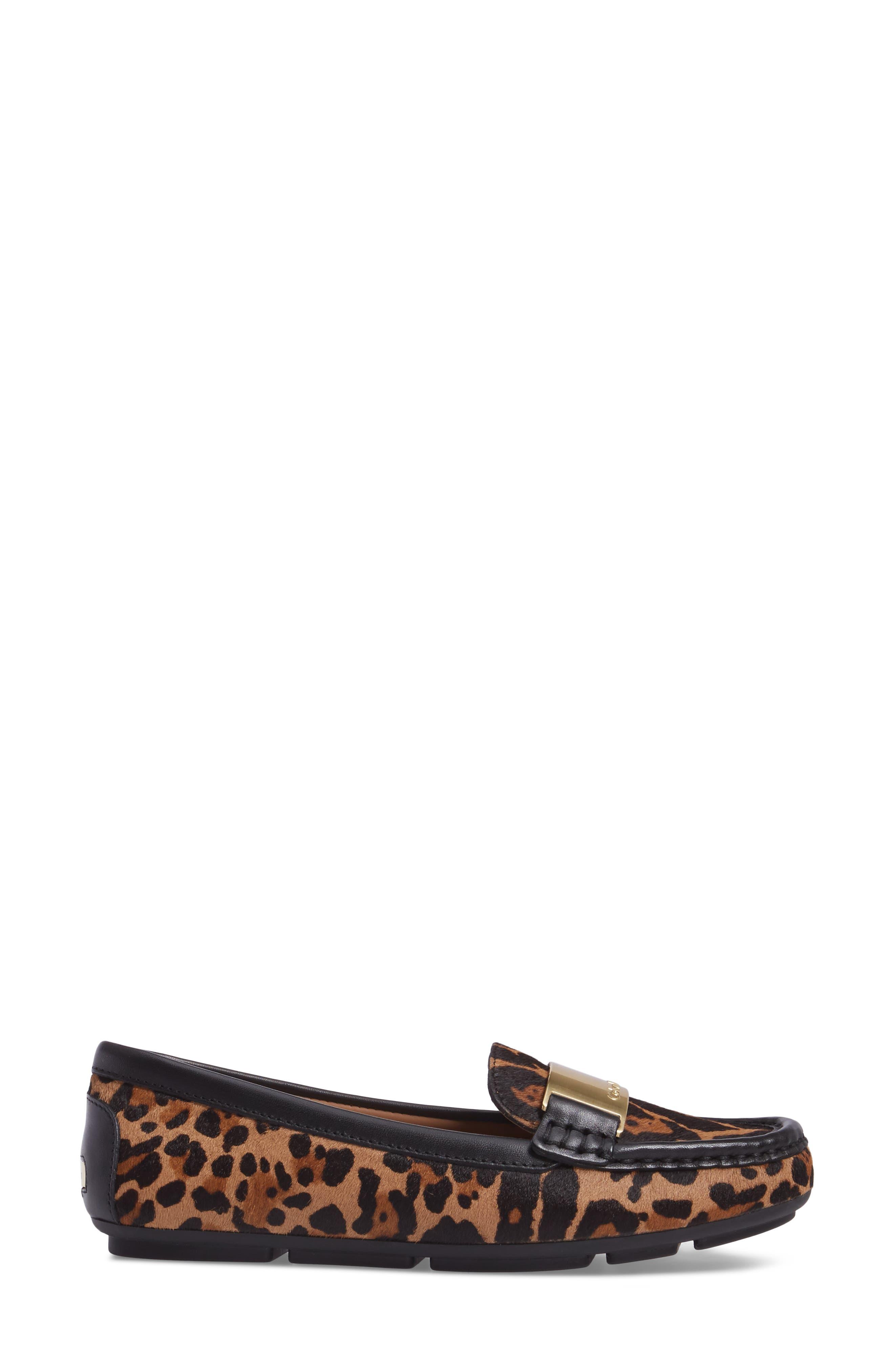 Lisette Loafer,                             Alternate thumbnail 3, color,                             Natural Leopard Hair Calf