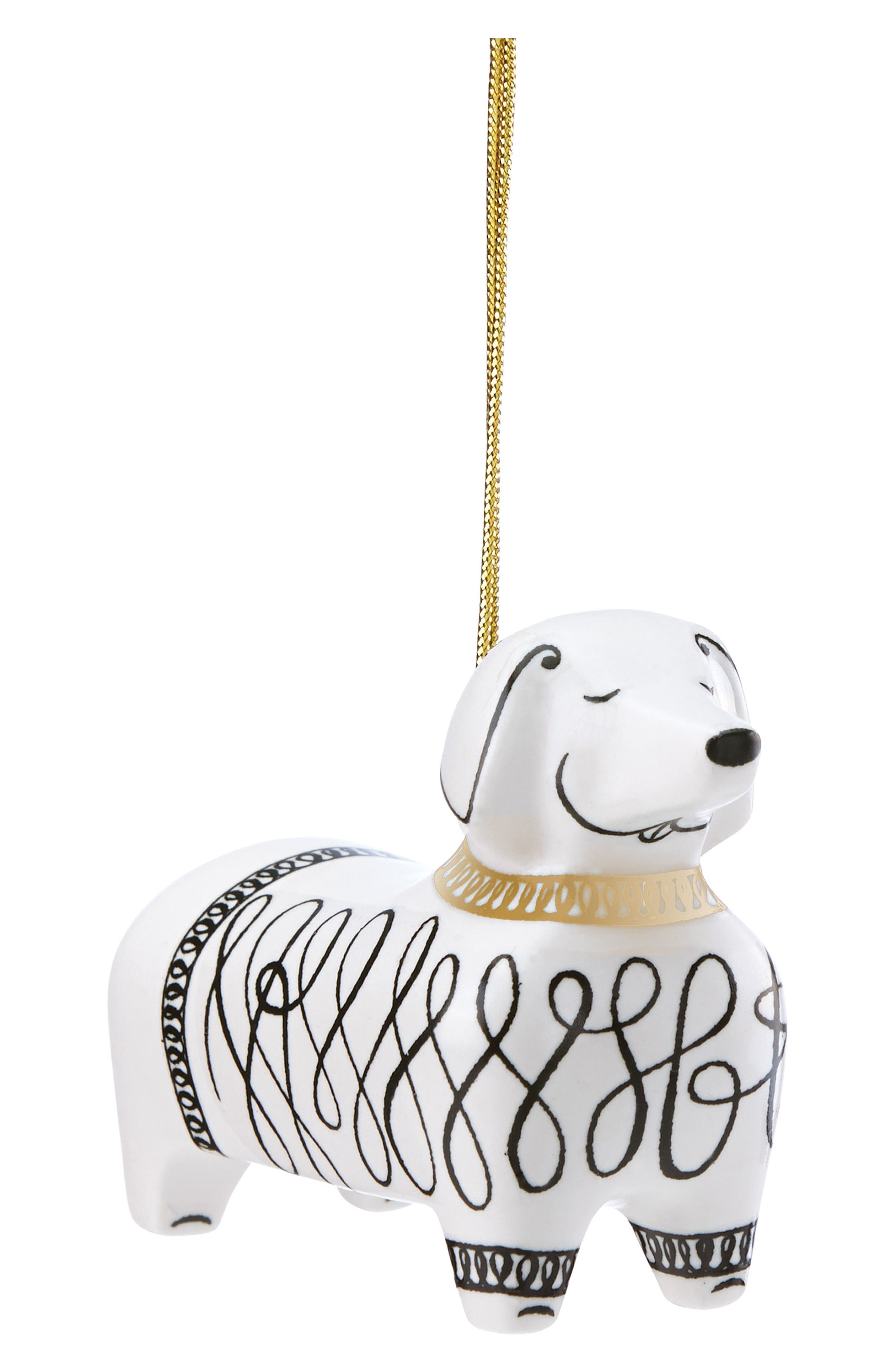 kate spade new york dachshund ornament