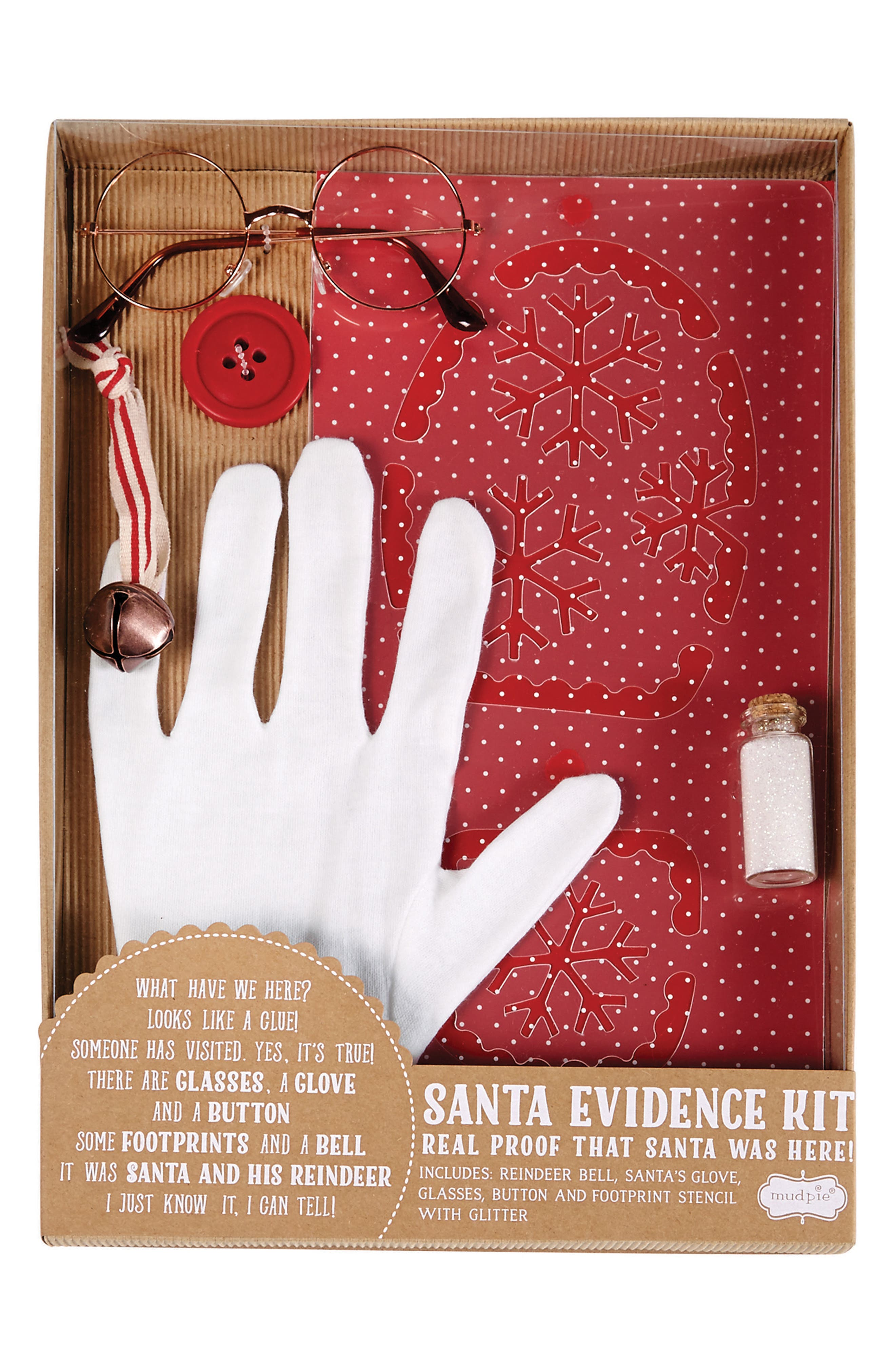 Santa Evidence Kit,                             Main thumbnail 1, color,                             Red