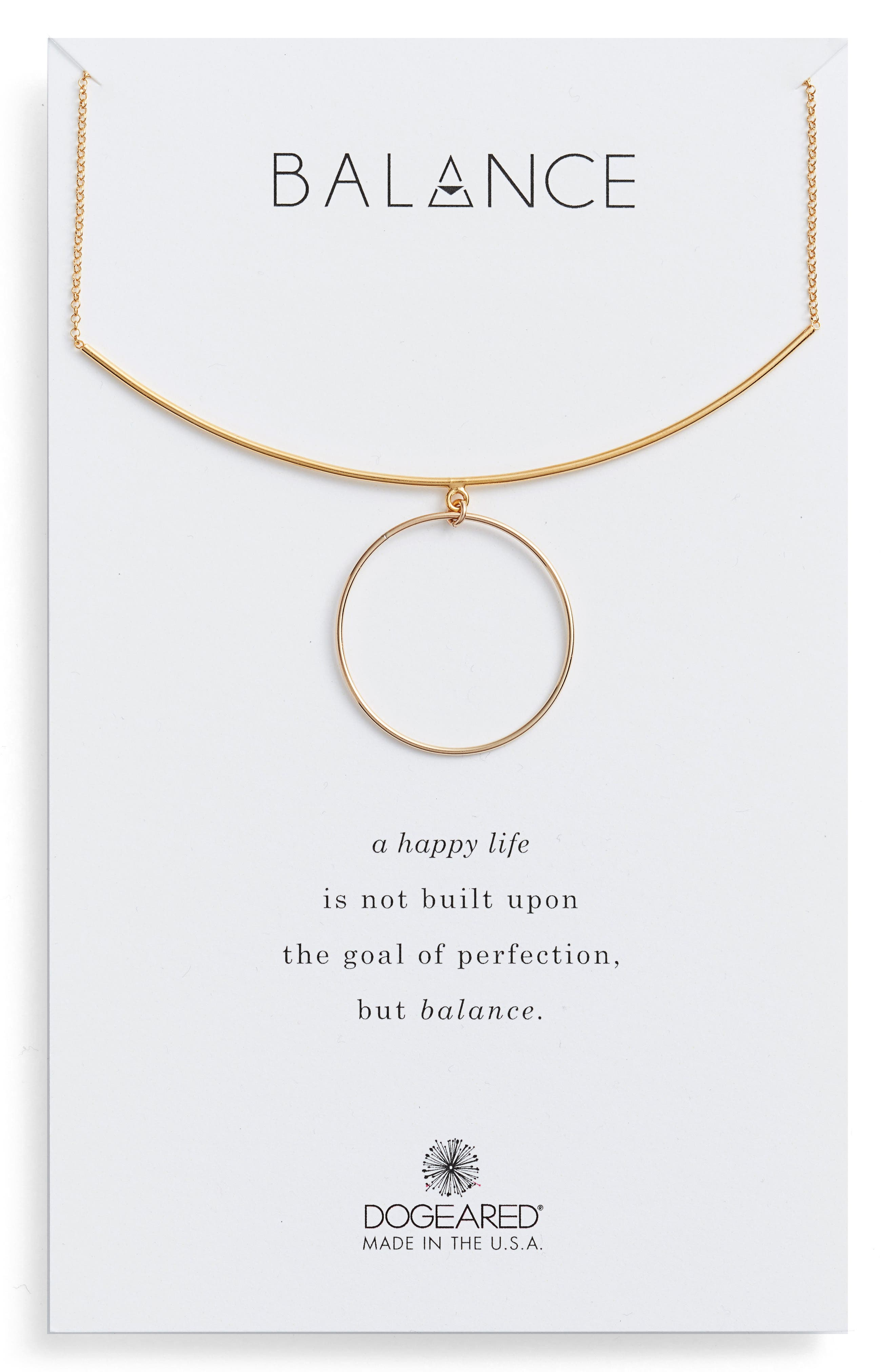 Alternate Image 1 Selected - Dogeared Balance Bar & Ring Pendant Necklace
