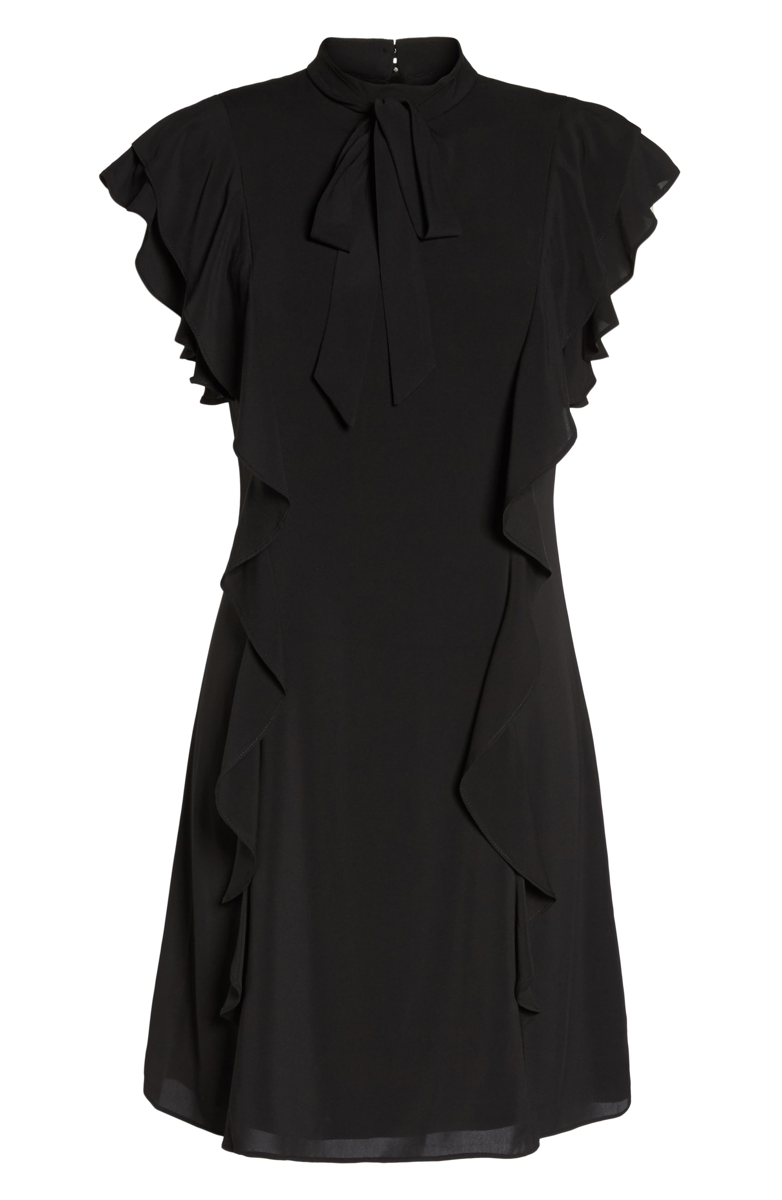 Alternate Image 6  - Julia Jordan Ruffle Tie Neck Sheath Dress