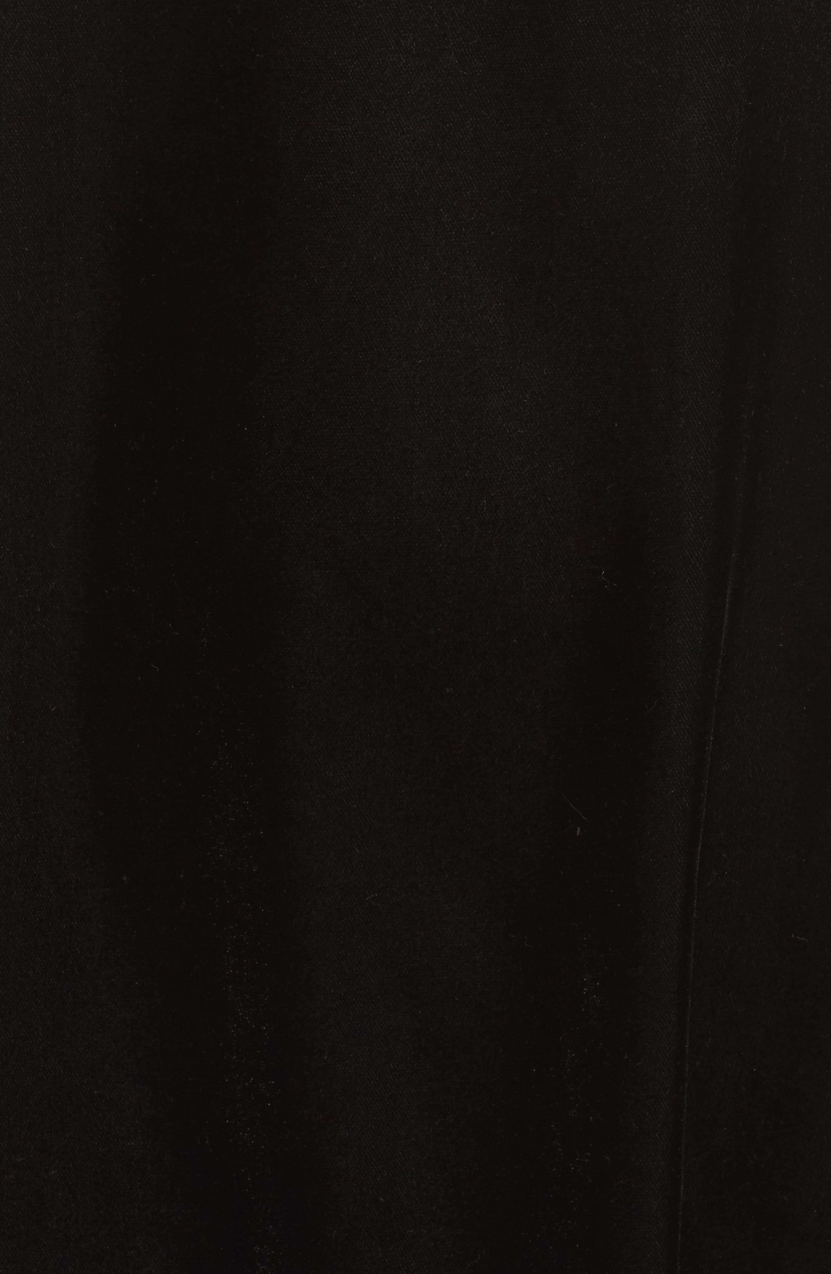 Velvet Chemise,                             Alternate thumbnail 6, color,                             Black