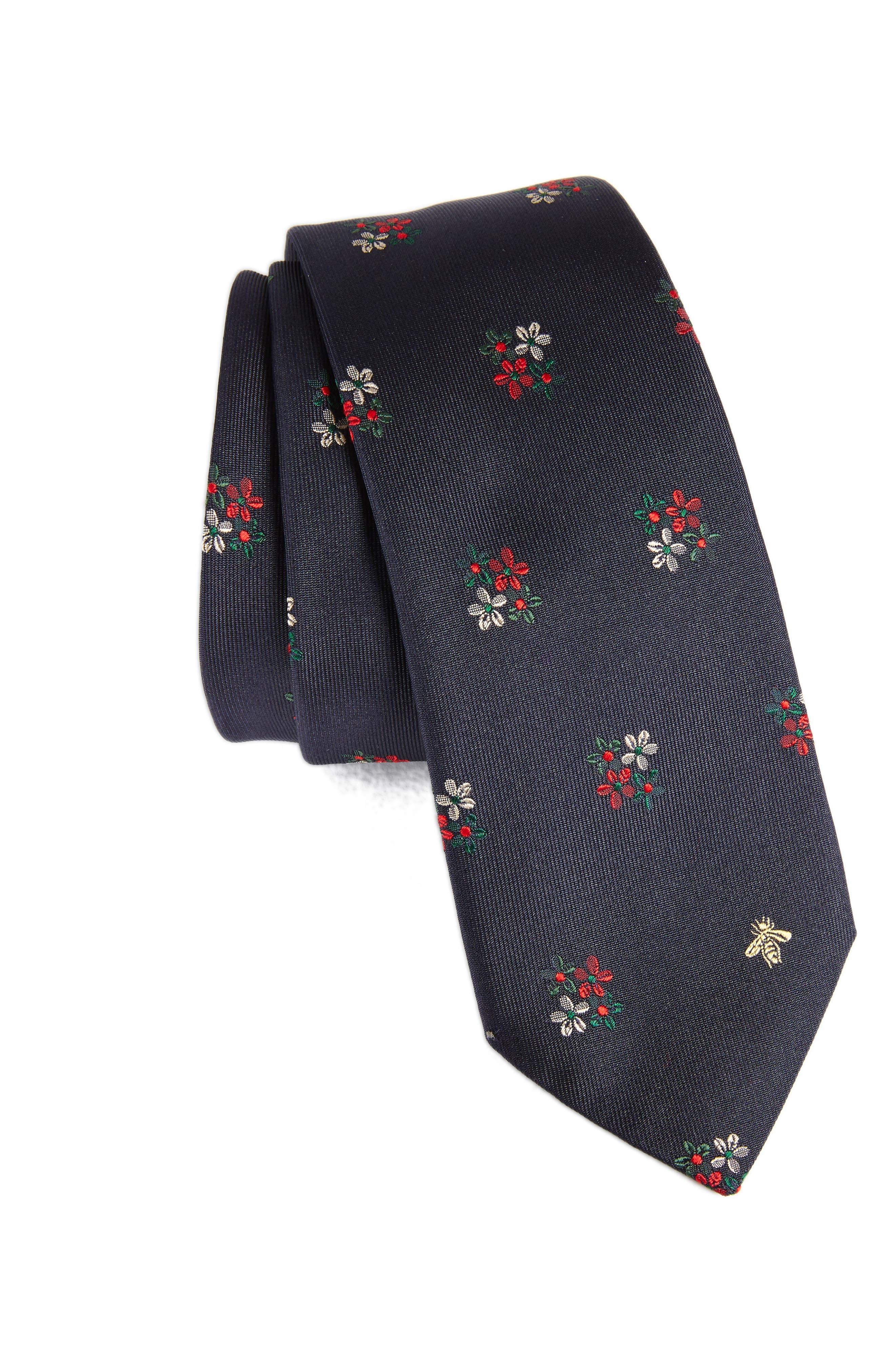 Main Image - Gucci Yeola Floral Silk Tie