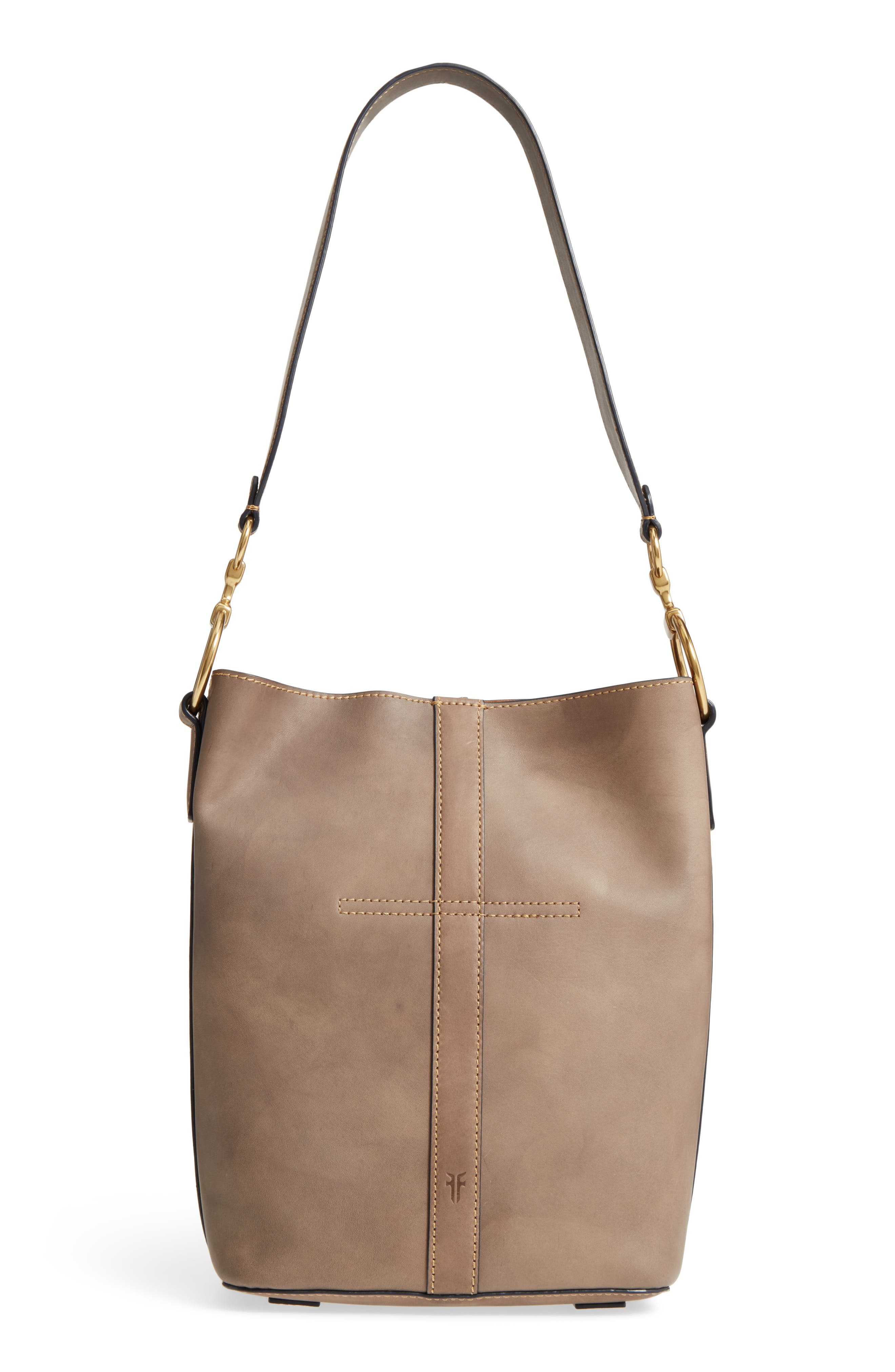 Ilana Leather Bucket Bag,                             Alternate thumbnail 2, color,                             Grey