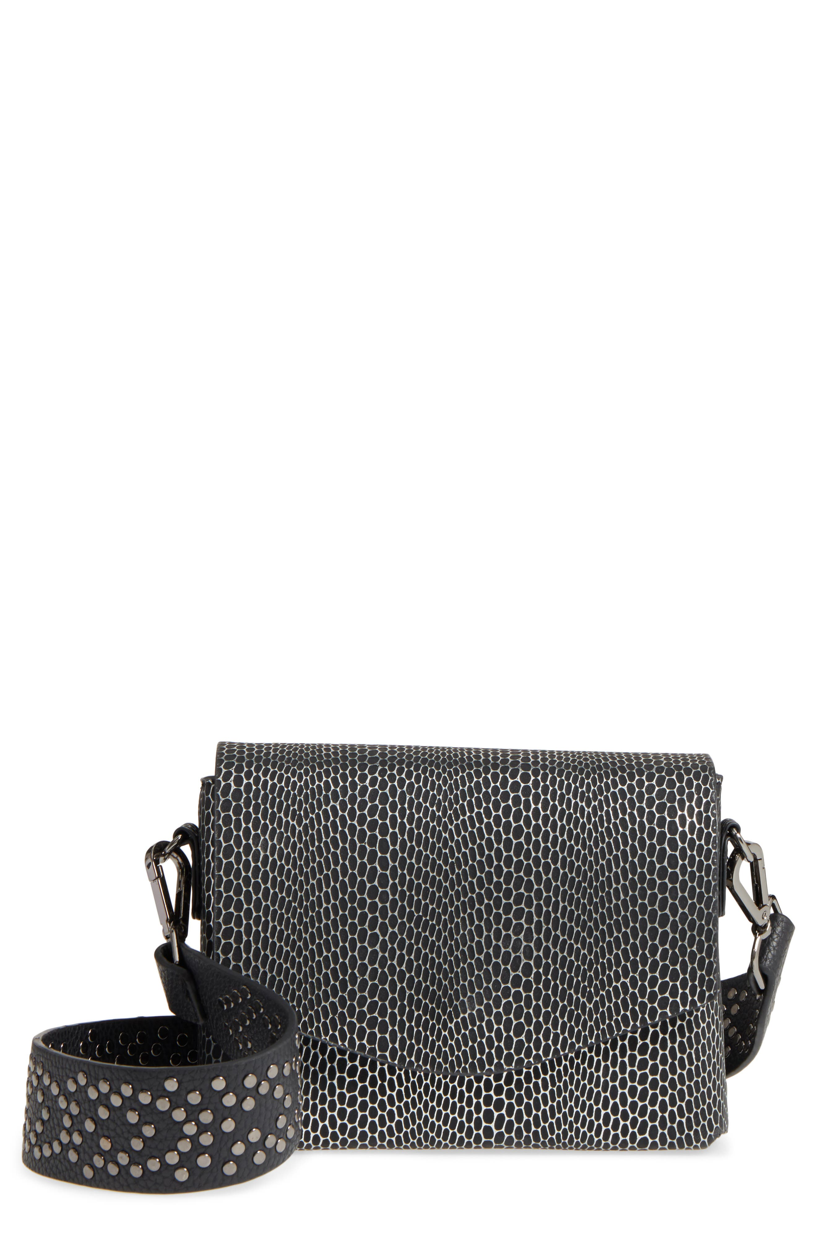 Street Level Textured Faux Leather Crossbody Bag