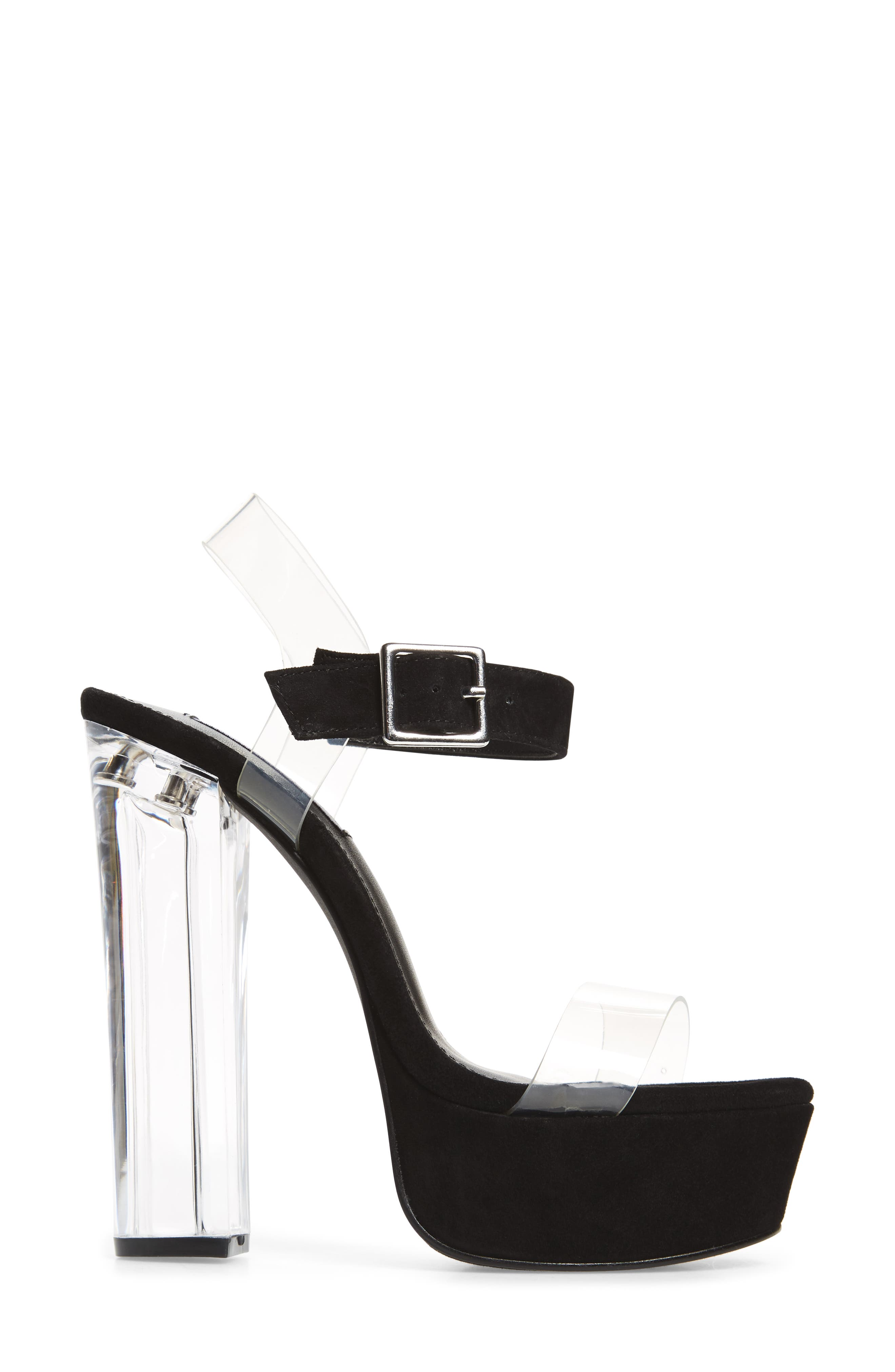 Glimmer Sandal,                             Alternate thumbnail 3, color,                             Black Suede