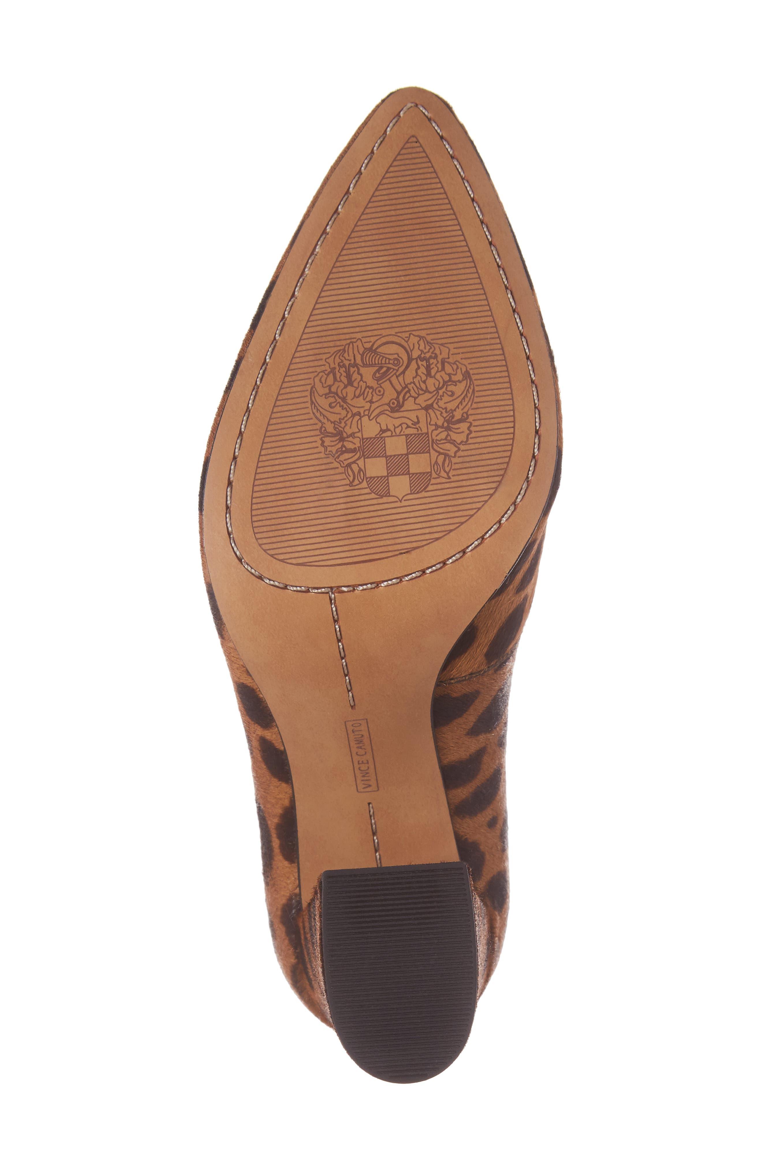 Talise Genuine Calf Hair Pointy Toe Pump,                             Alternate thumbnail 6, color,                             Leopard Brown