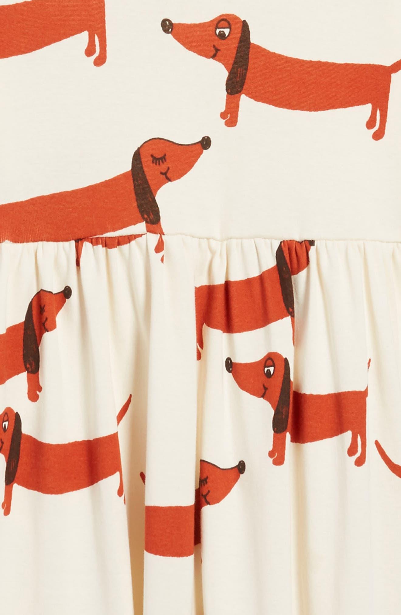 Alternate Image 3  - Mini Rodini Dogs Organic Cotton Dress (Toddler Girls & Little Girls)