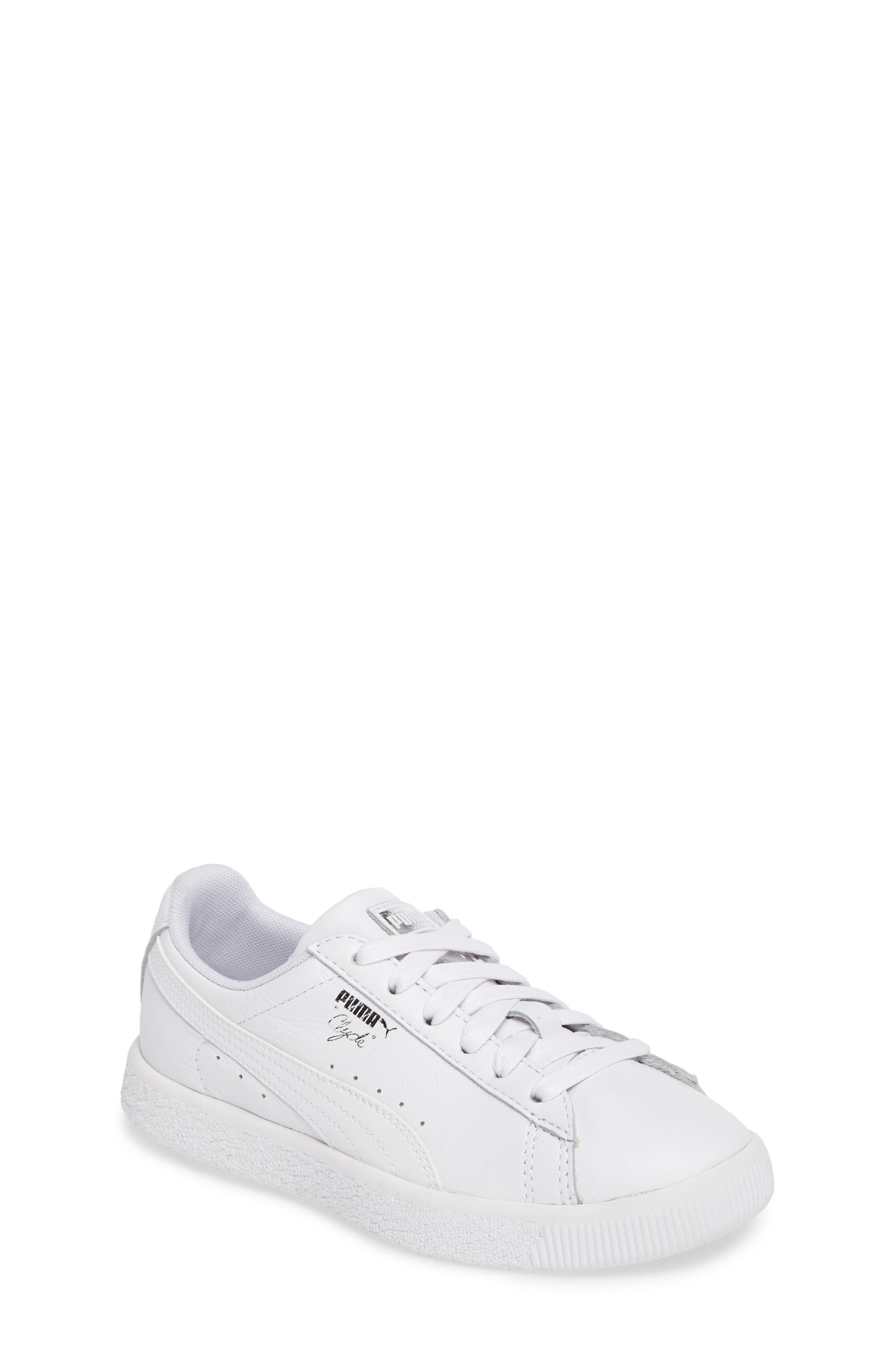 Clyde Core Foil Sneaker,                             Main thumbnail 1, color,                             White/ White