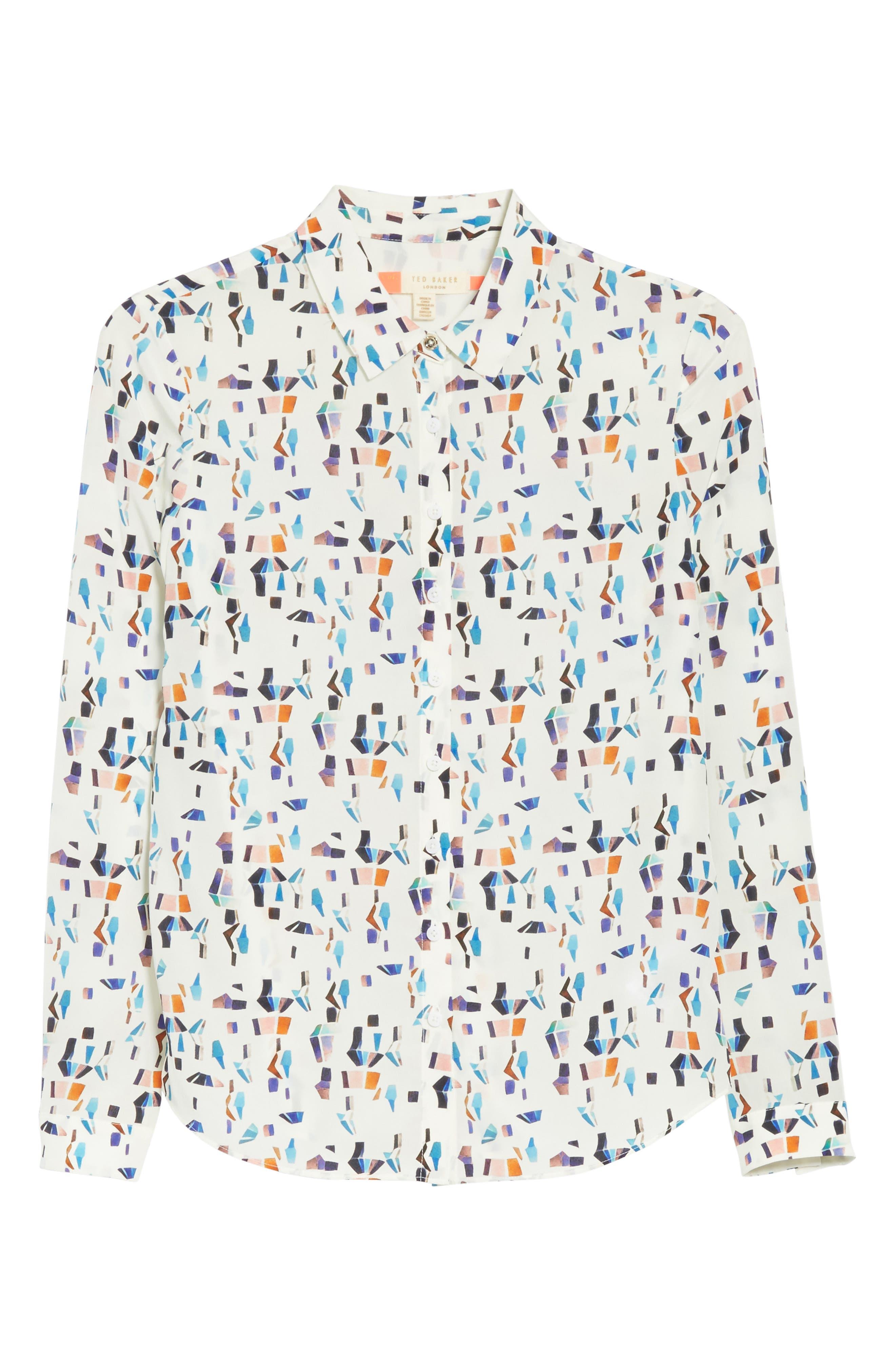 Alternate Image 6  - Ted Baker London Ontaio Lantern Print Silk Shirt