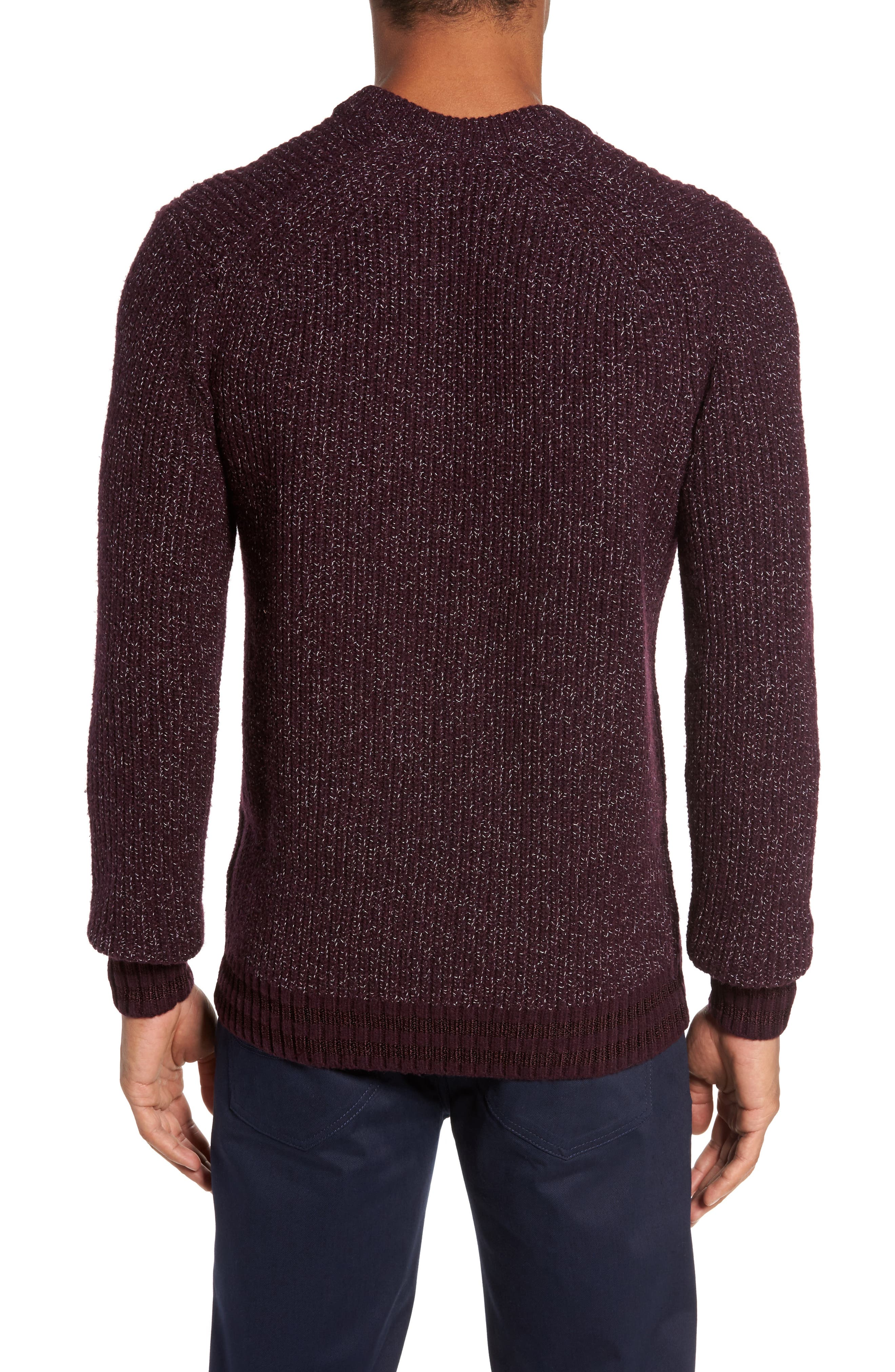 Alternate Image 2  - Ted Baker London Textured Raglan Sweater
