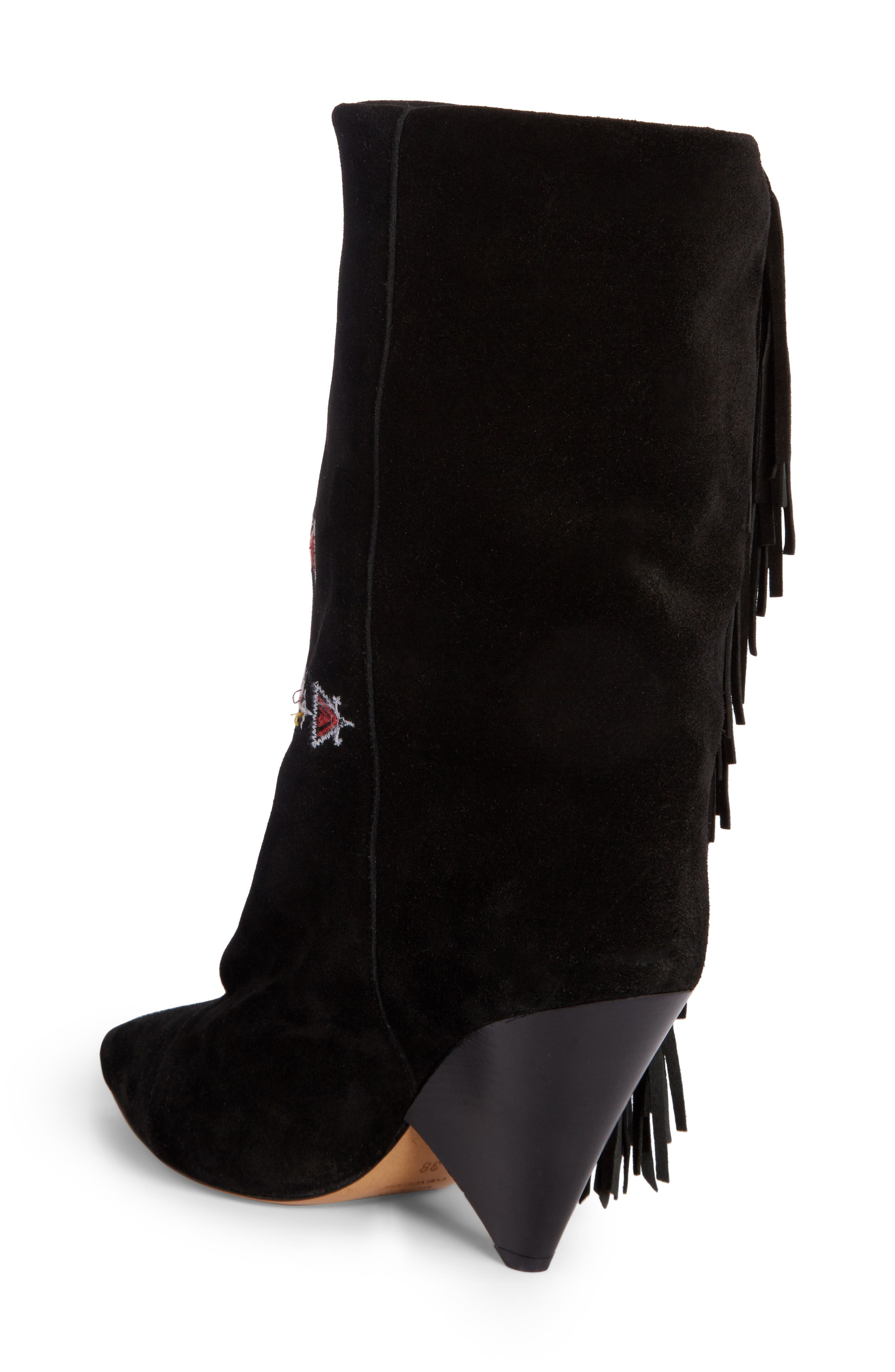 Alternate Image 2  - Isabel Marant Lesten Embroidered Fringe Boot (Women)