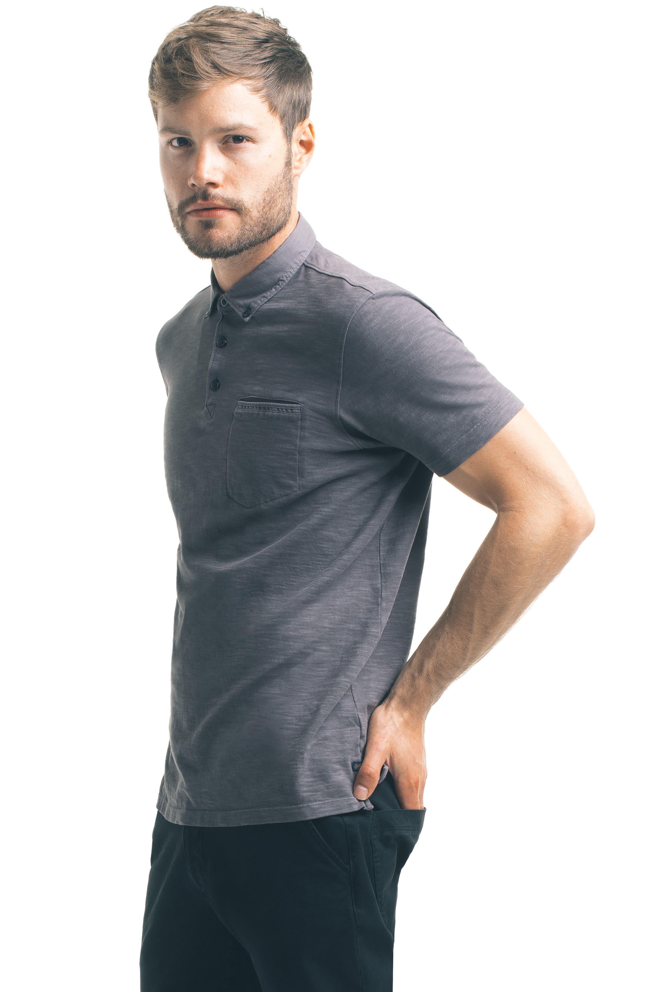 Alternate Image 5  - Good Man Brand Woven Collar Polo