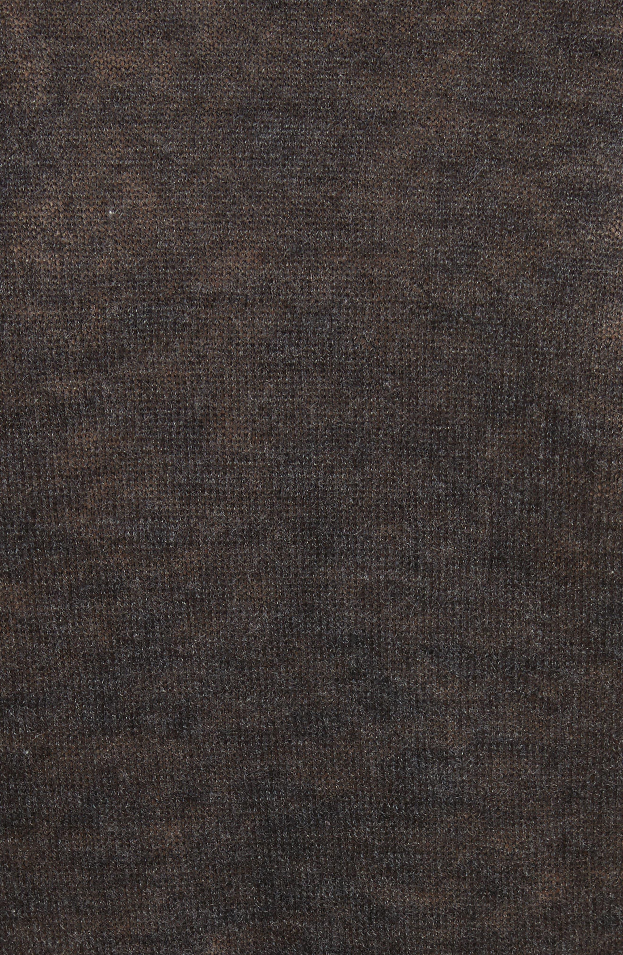 Cashmere Wrap Ballet Sweater,                             Alternate thumbnail 5, color,                             Charcoal