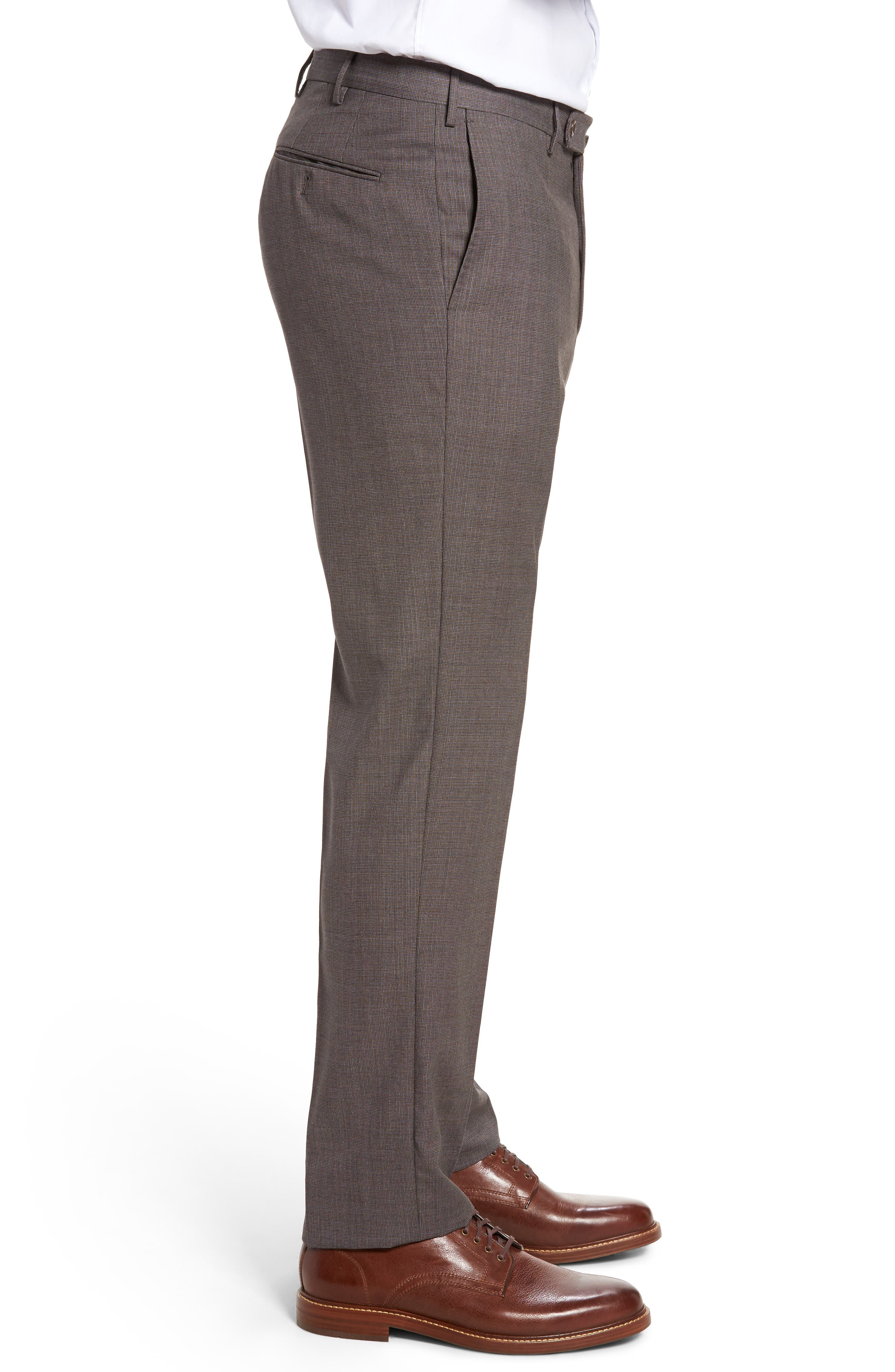 Alternate Image 3  - Incotex Benson Flat Front Wool Trousers