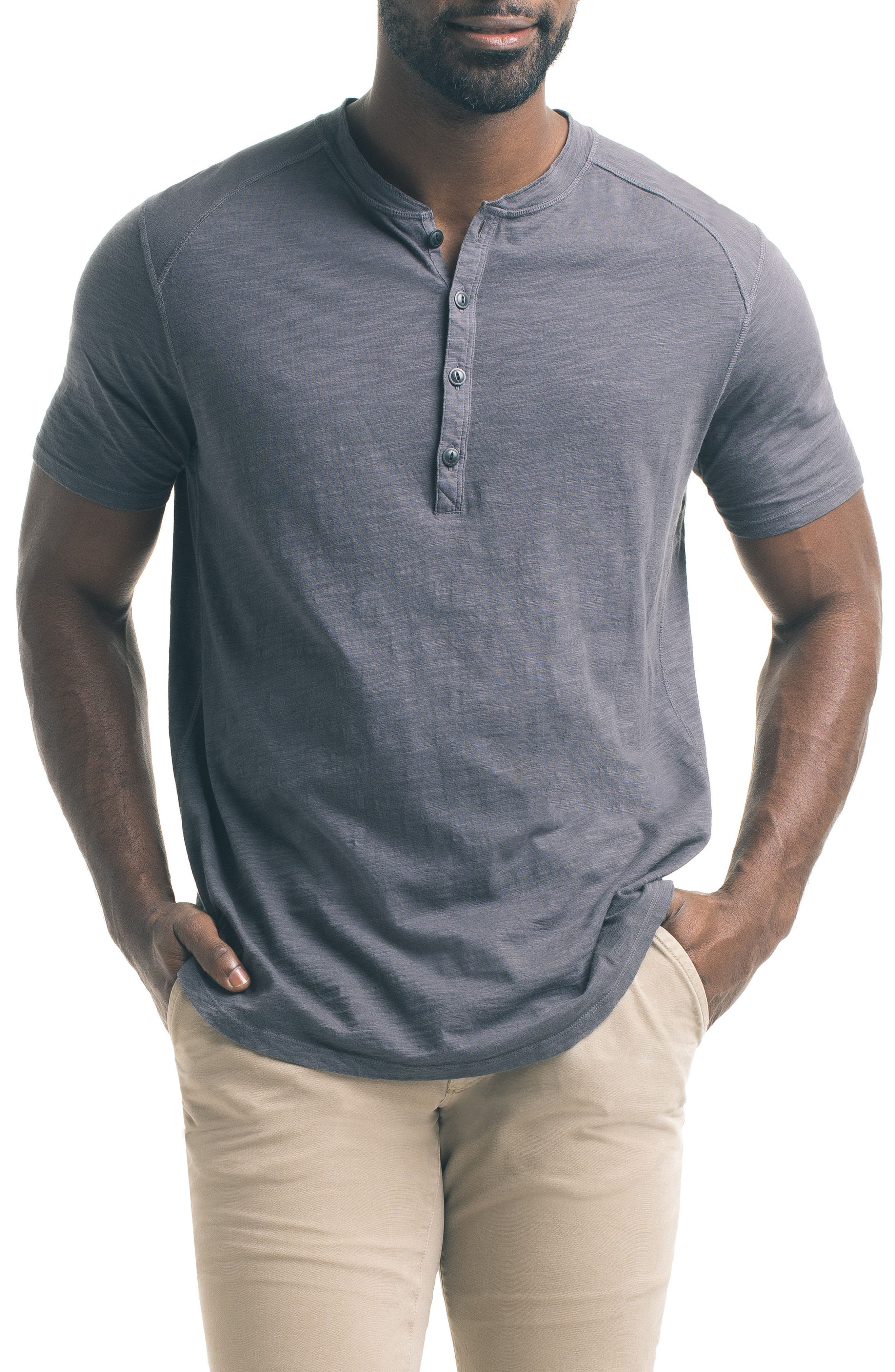 Good Man Brand Short Sleeve Slub Henley
