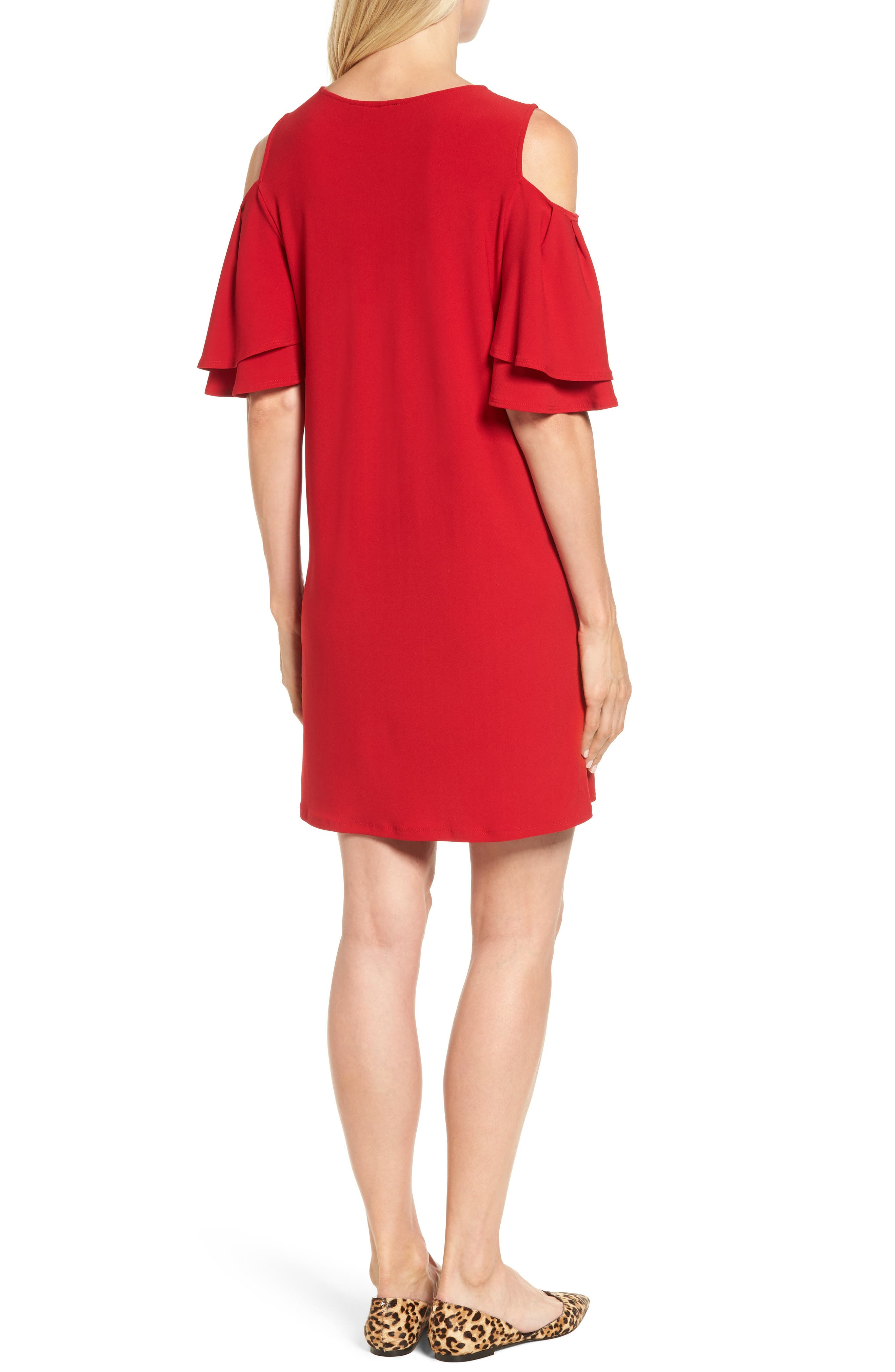 Alternate Image 2  - Halogen® Cold Shoulder Shift Dress