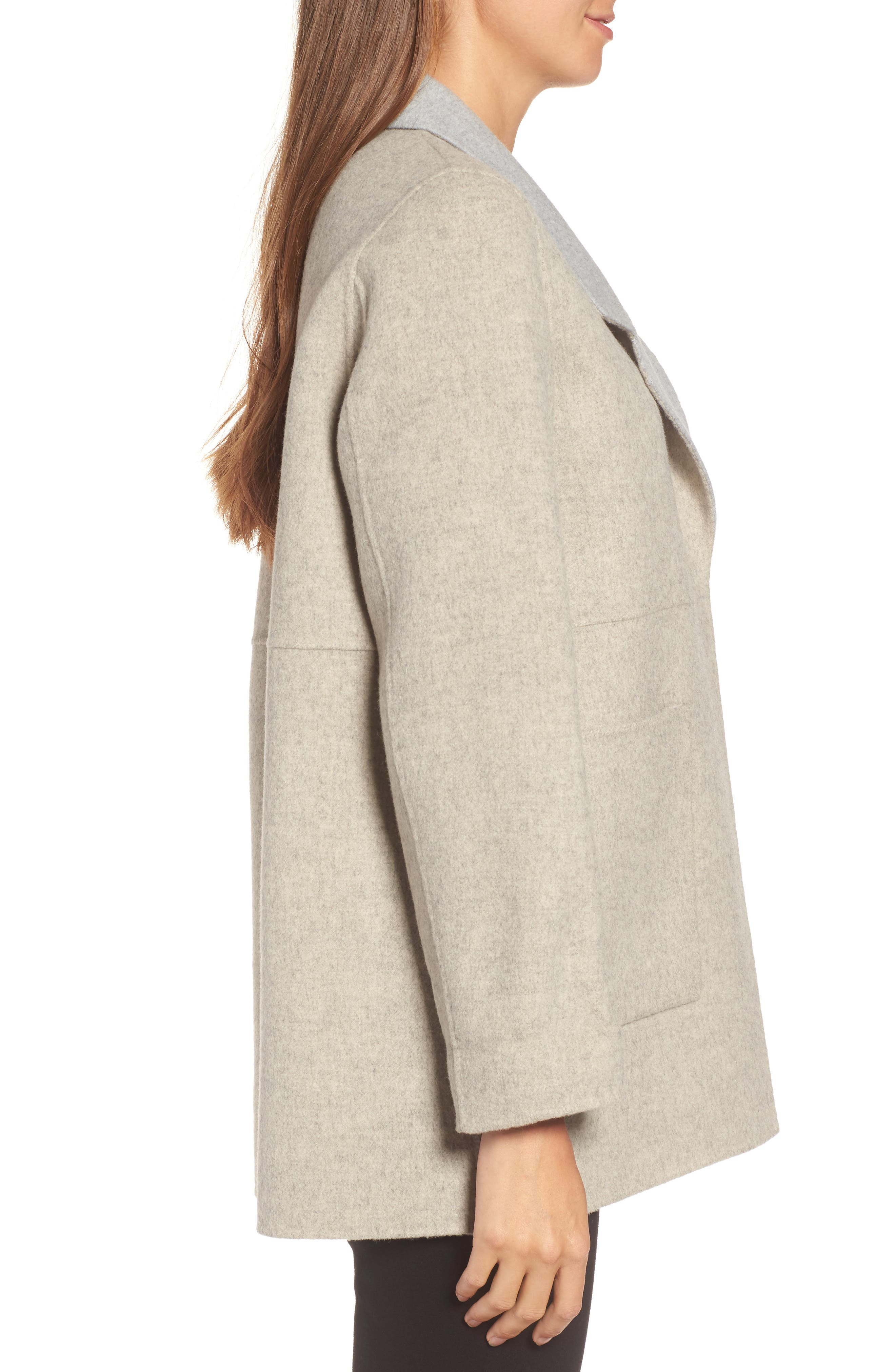Alternate Image 3  - Eileen Fisher Double Face Brushed Wool Notch Collar Jacket