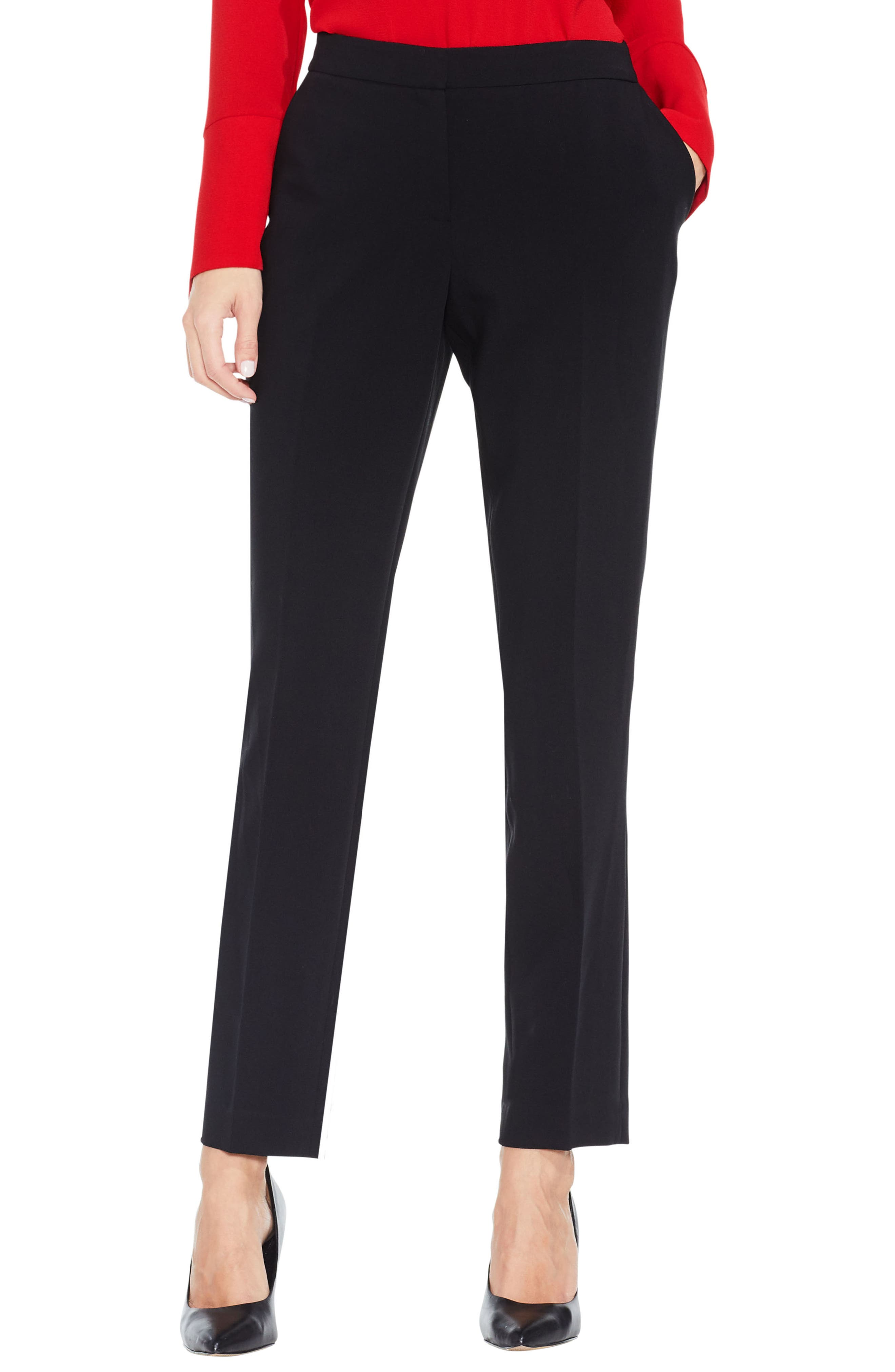 Stretch Suiting Skinny Pants,                             Main thumbnail 1, color,                             Rich Black