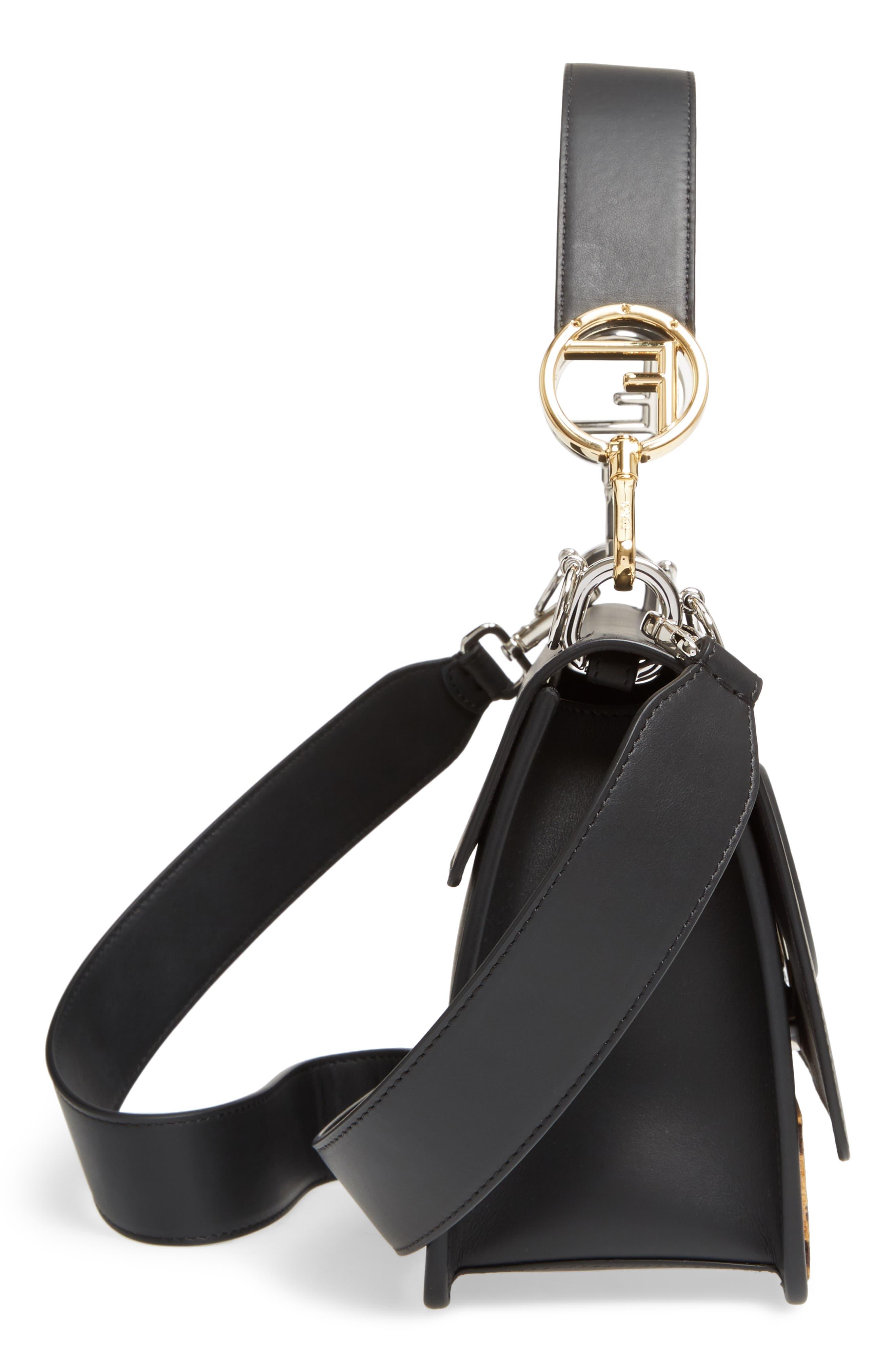 Alternate Image 5  - Fendi Kan I Logo Tappetino Leather & Velvet Shoulder Bag