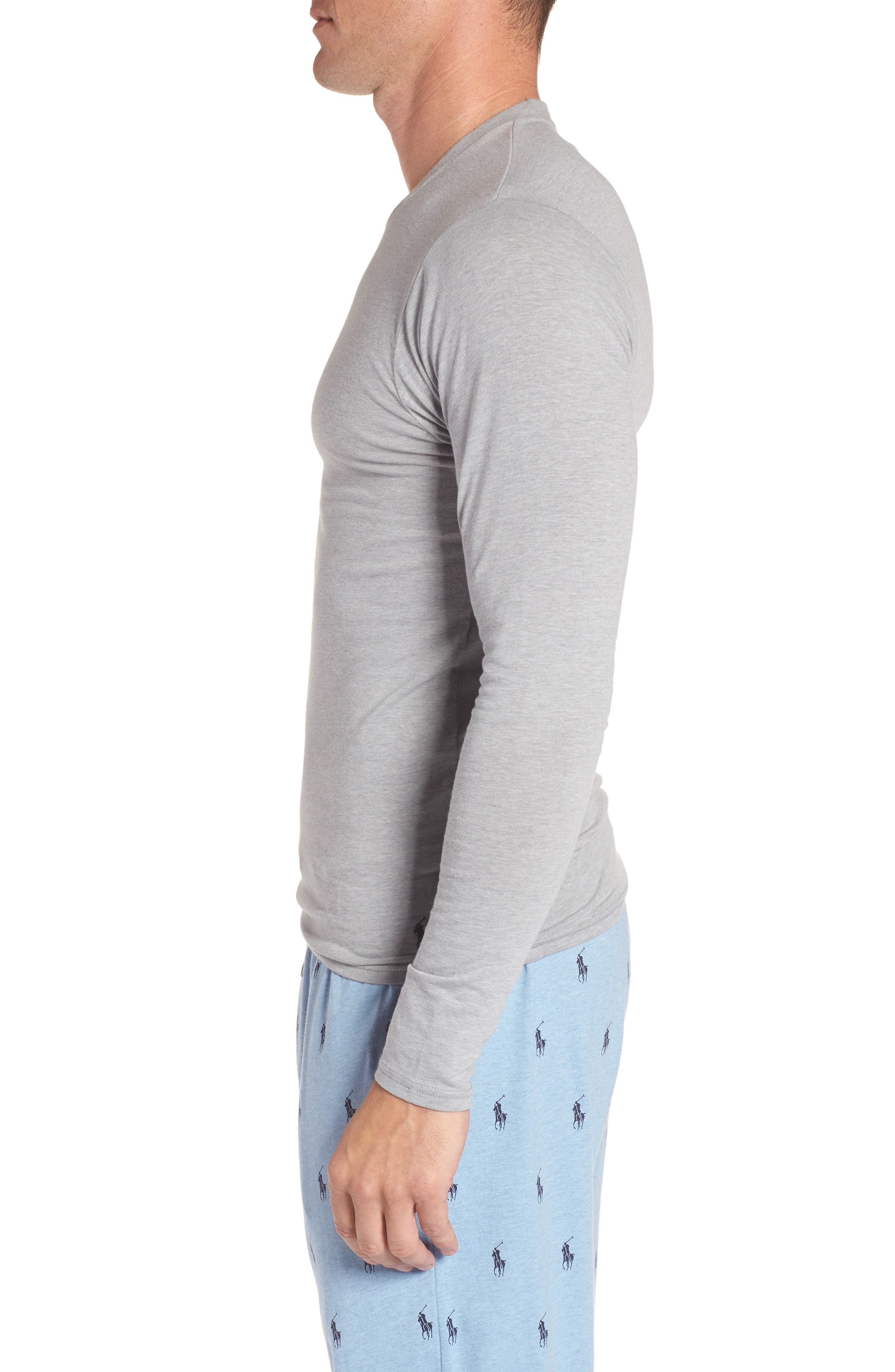 Long Sleeve T-Shirt,                             Alternate thumbnail 3, color,                             Andover Grey