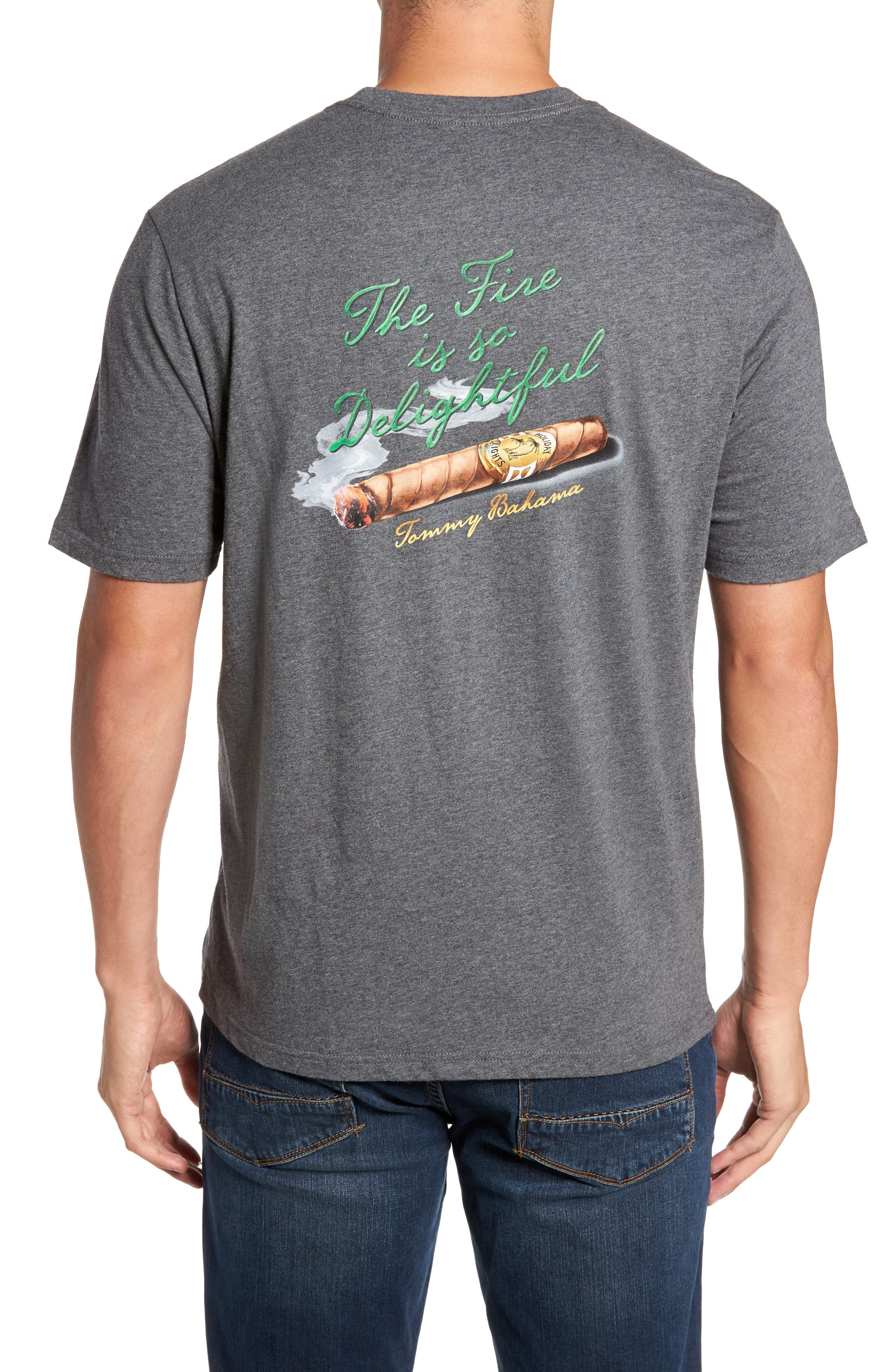 Alternate Image 2  - Tommy Bahama The Fire Is So Delightful Graphic T-Shirt
