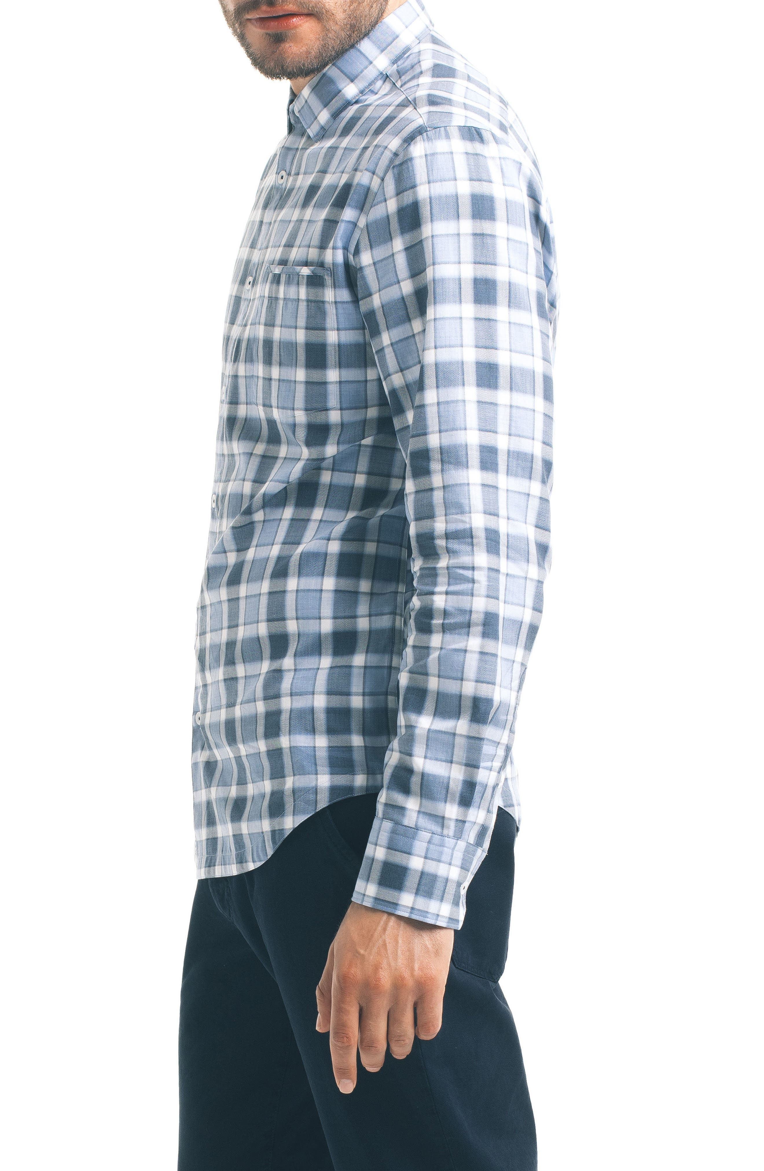 Alternate Image 3  - Good Man Brand Slim Fit Windowpane Check Sport Shirt